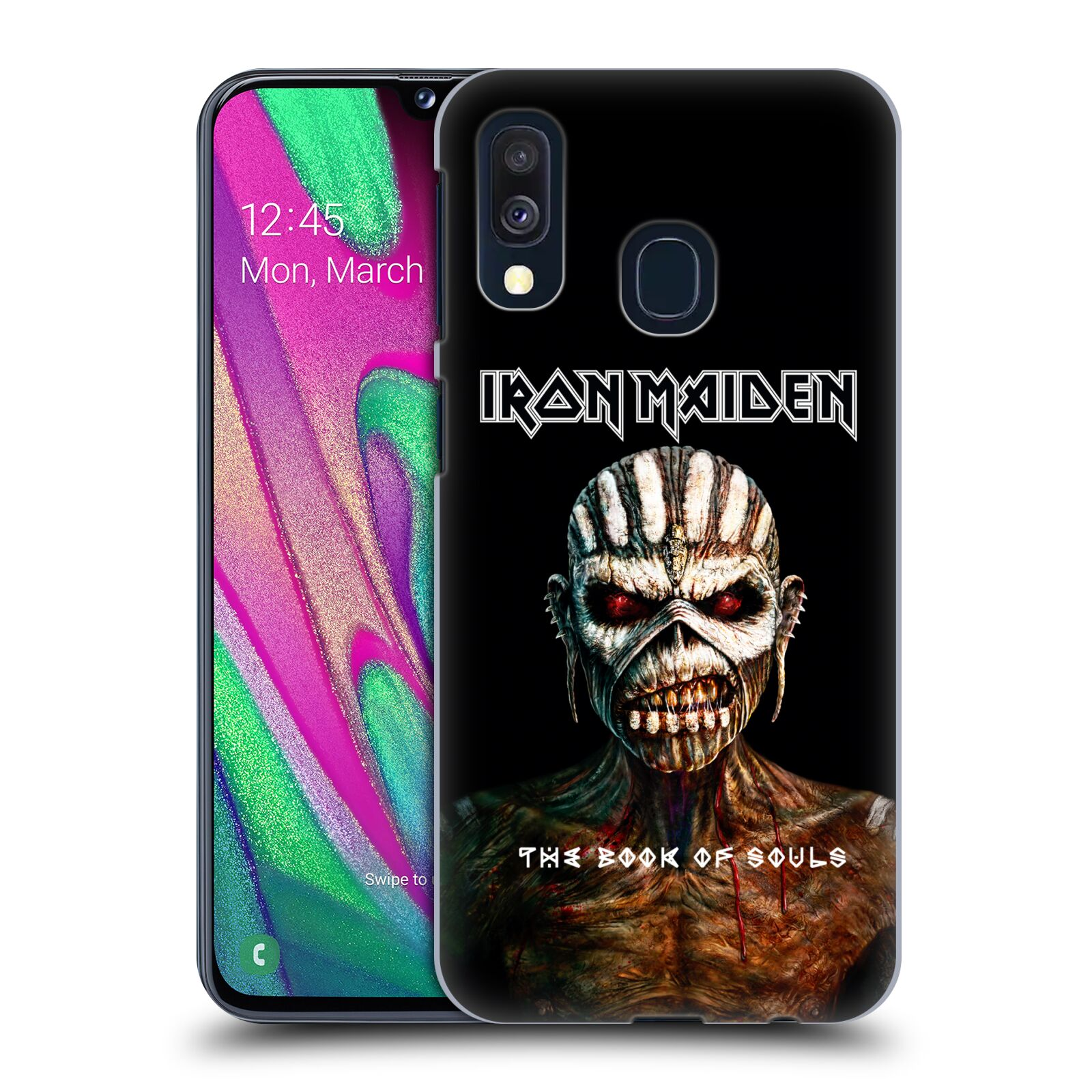 Plastové pouzdro na mobil Samsung Galaxy A40 - Head Case - Iron Maiden - The Book Of Souls