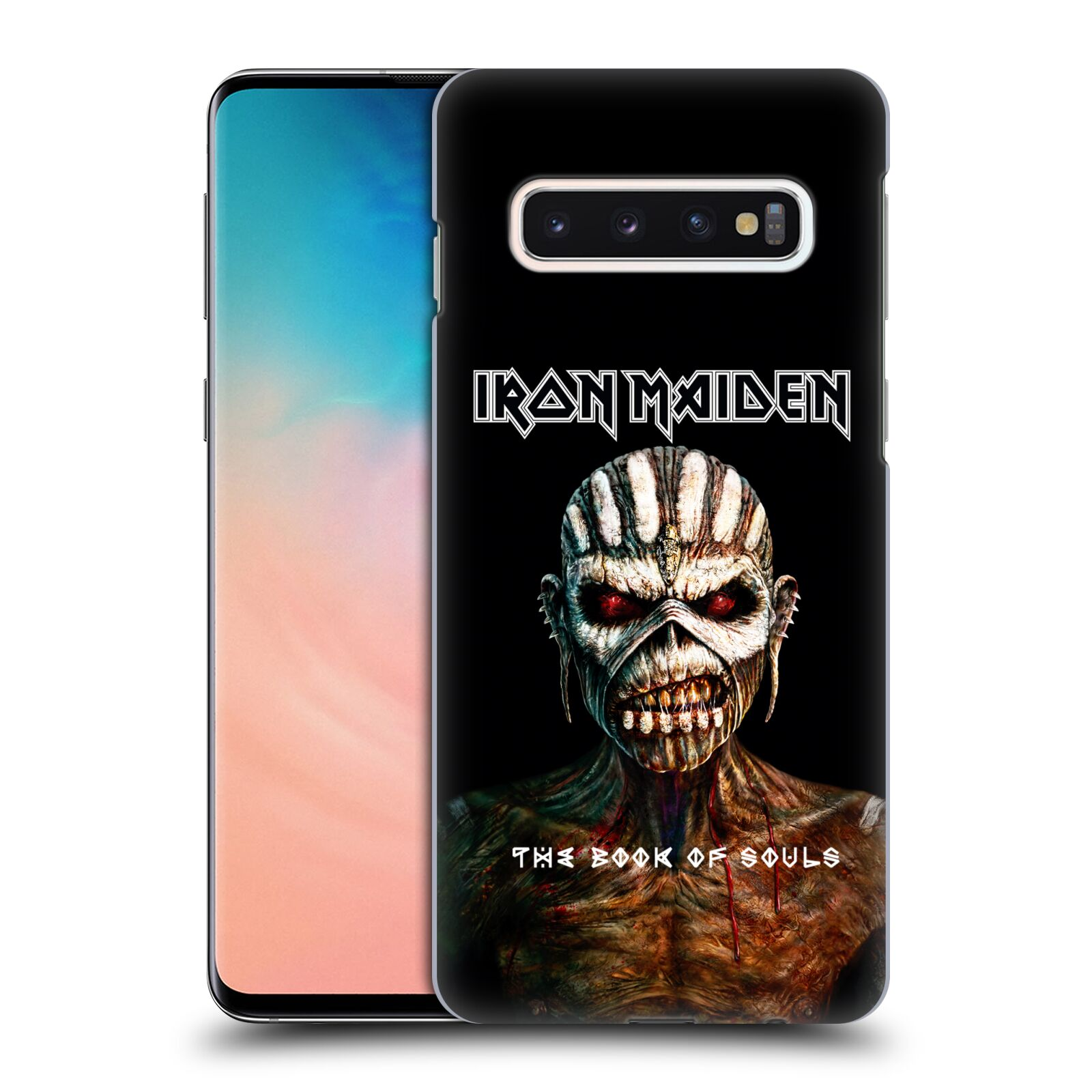 Plastové pouzdro na mobil Samsung Galaxy S10 - Head Case - Iron Maiden - The Book Of Souls
