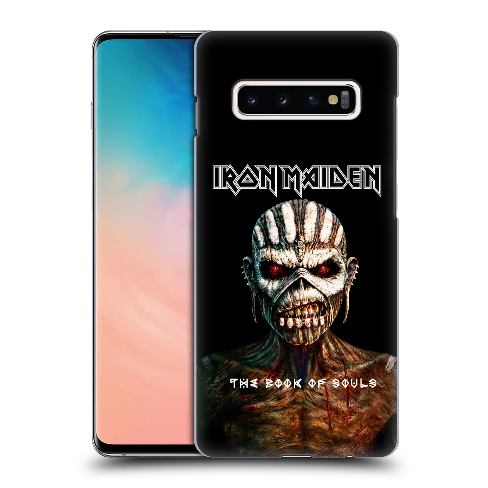 Plastové pouzdro na mobil Samsung Galaxy S10 Plus - Head Case - Iron Maiden - The Book Of Souls