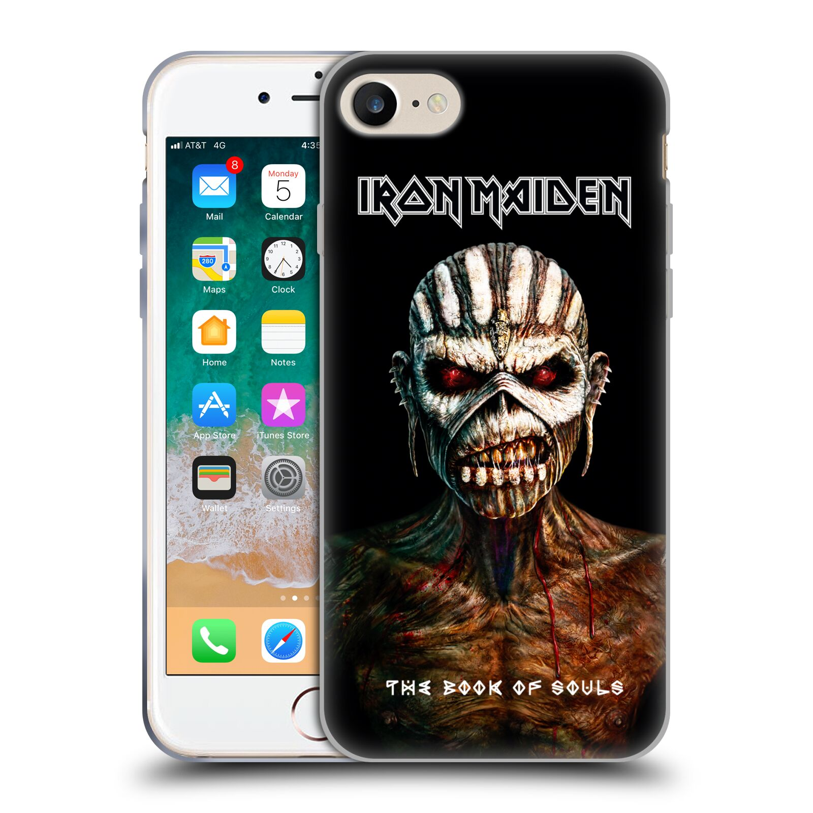 Silikonové pouzdro na mobil Apple iPhone SE (2020) - Head Case - Iron Maiden - The Book Of Souls
