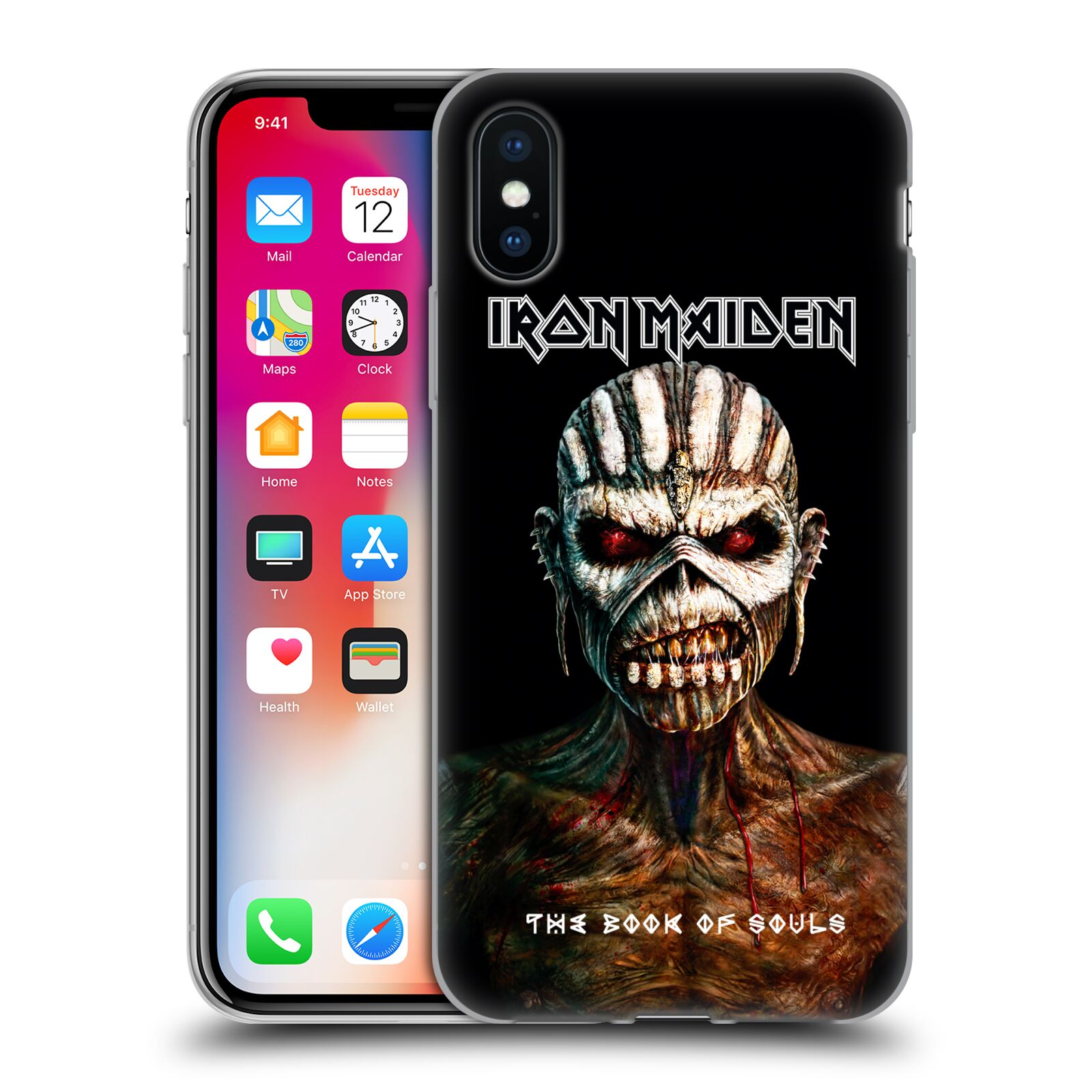 Silikonové pouzdro na mobil Apple iPhone XS - Head Case - Iron Maiden - The Book Of Souls