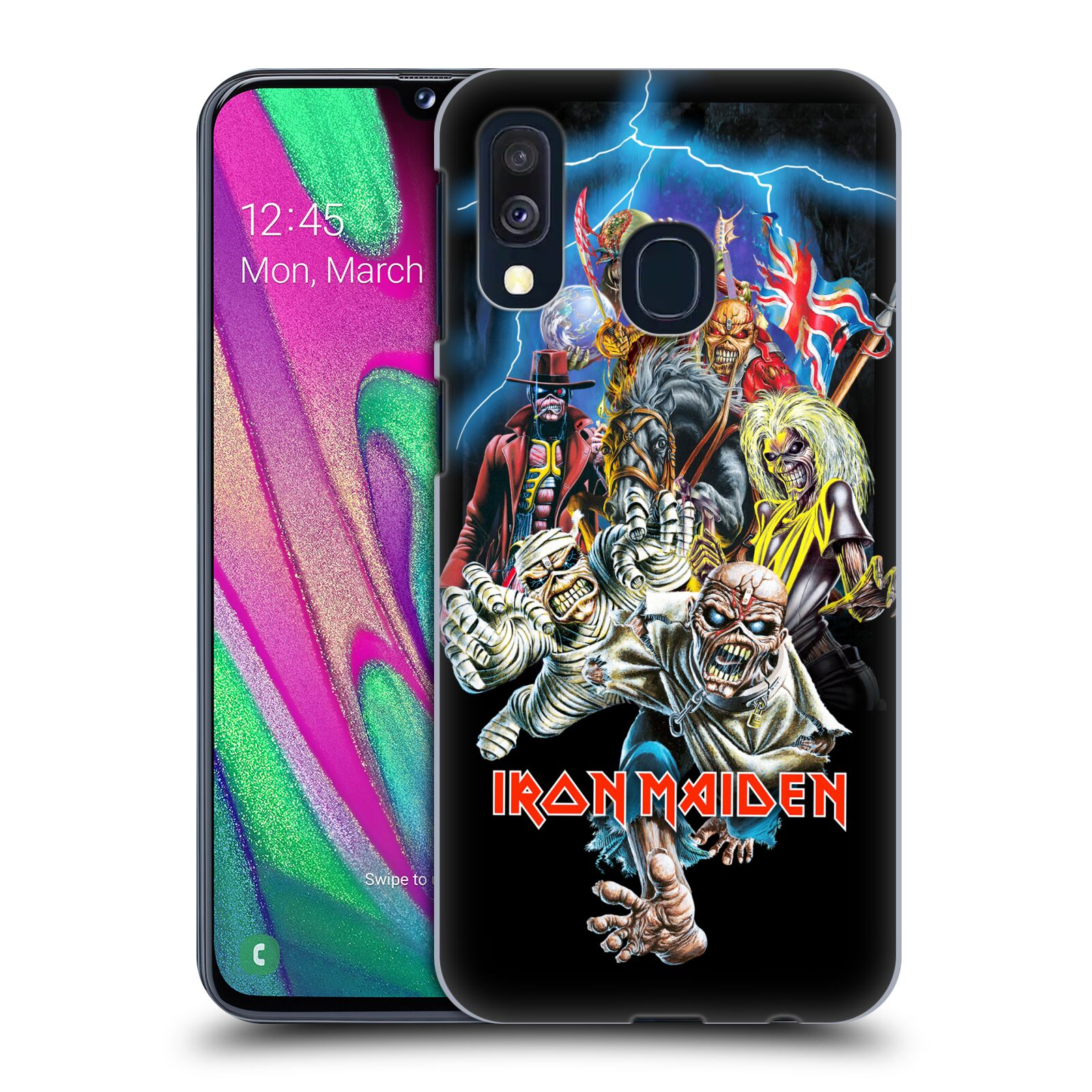 Plastové pouzdro na mobil Samsung Galaxy A40 - Head Case - Iron Maiden - Best Of Beast