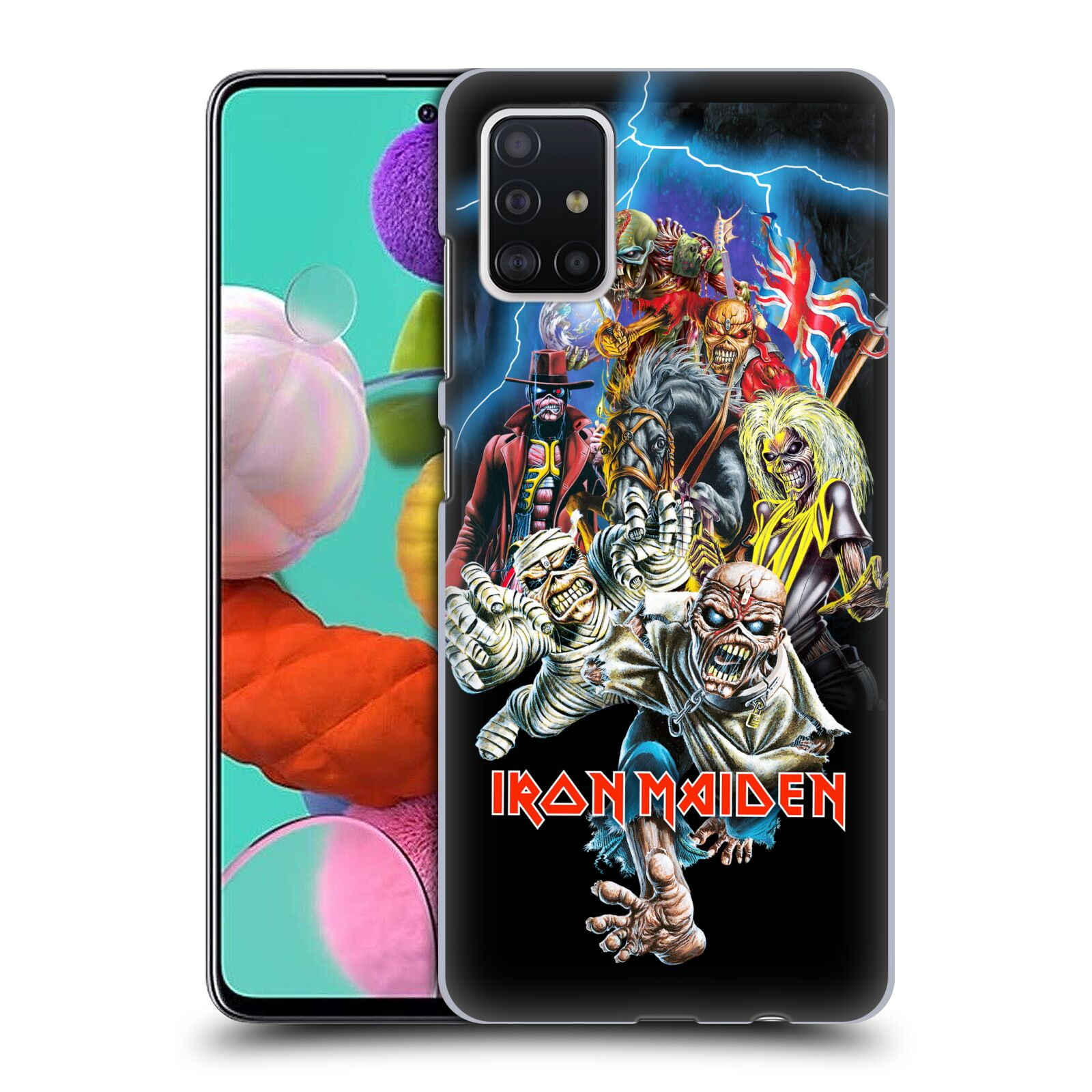Plastové pouzdro na mobil Samsung Galaxy A51 - Head Case - Iron Maiden - Best Of Beast