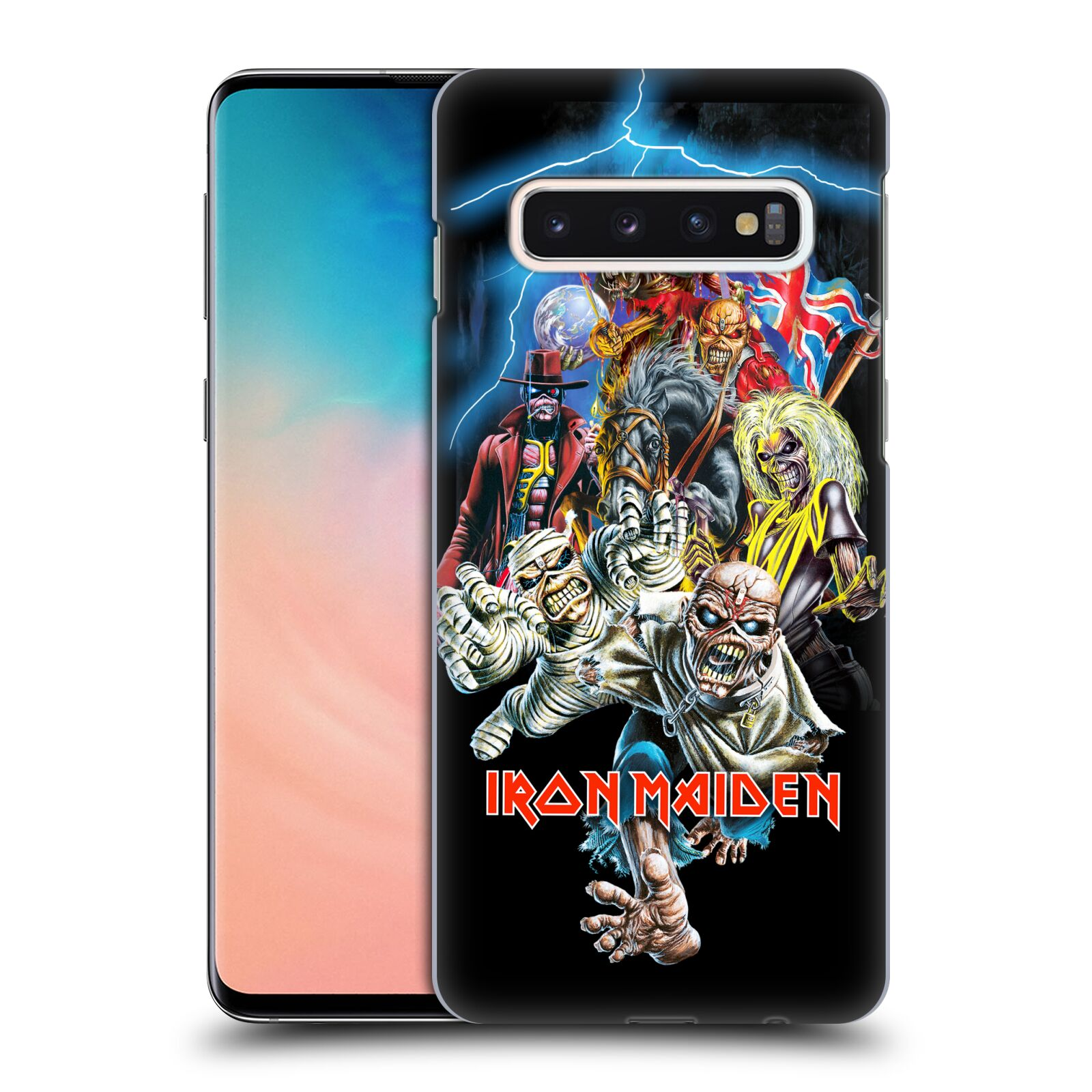 Plastové pouzdro na mobil Samsung Galaxy S10 - Head Case - Iron Maiden - Best Of Beast