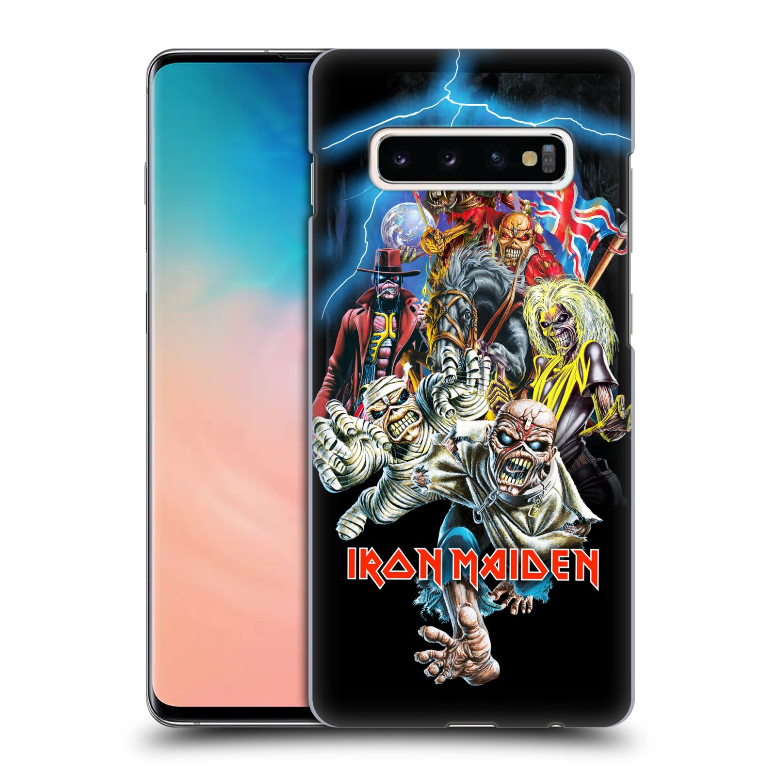 Plastové pouzdro na mobil Samsung Galaxy S10 Plus - Head Case - Iron Maiden - Best Of Beast