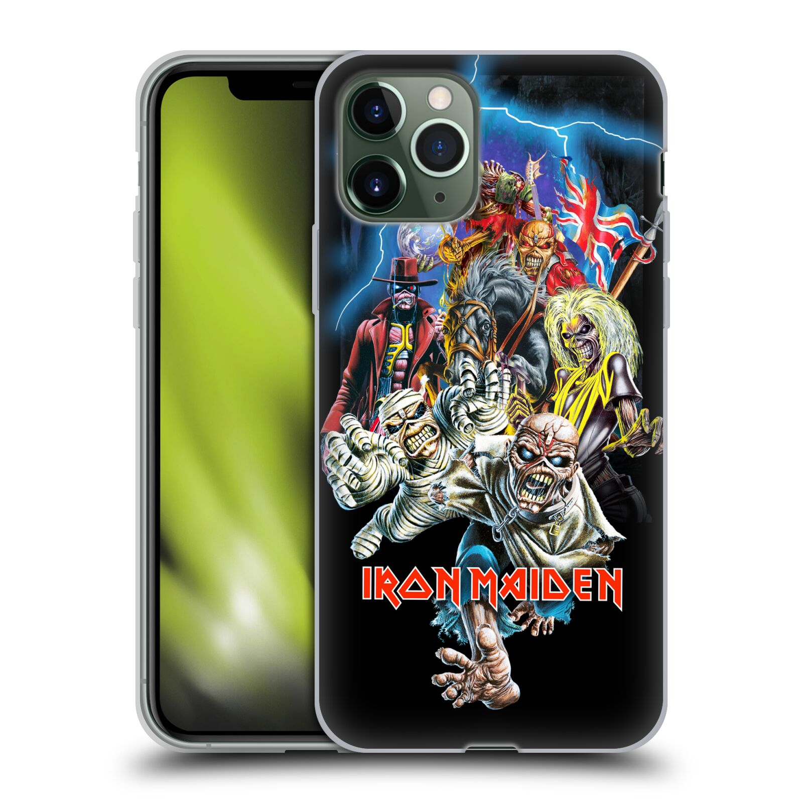 obal iphone x karl lagerfeld , Silikonové pouzdro na mobil Apple iPhone 11 Pro - Head Case - Iron Maiden - Best Of Beast
