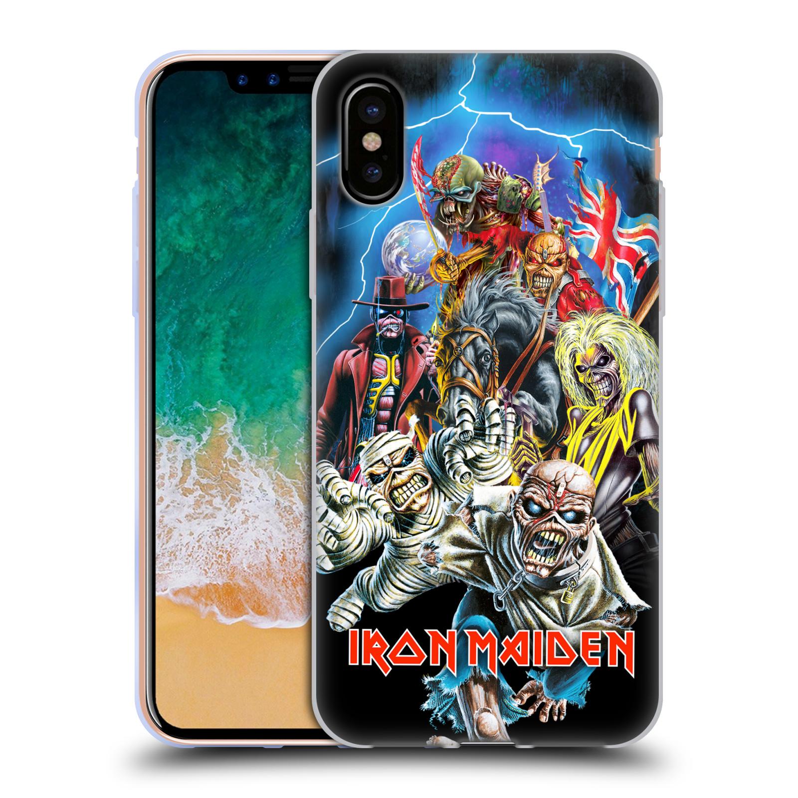 Silikonové pouzdro na mobil Apple iPhone X - Head Case - Iron Maiden - Best Of Beast (Silikonový kryt či obal na mobilní telefon Apple iPhone X s motivem Iron Maiden - Best Of Beast)