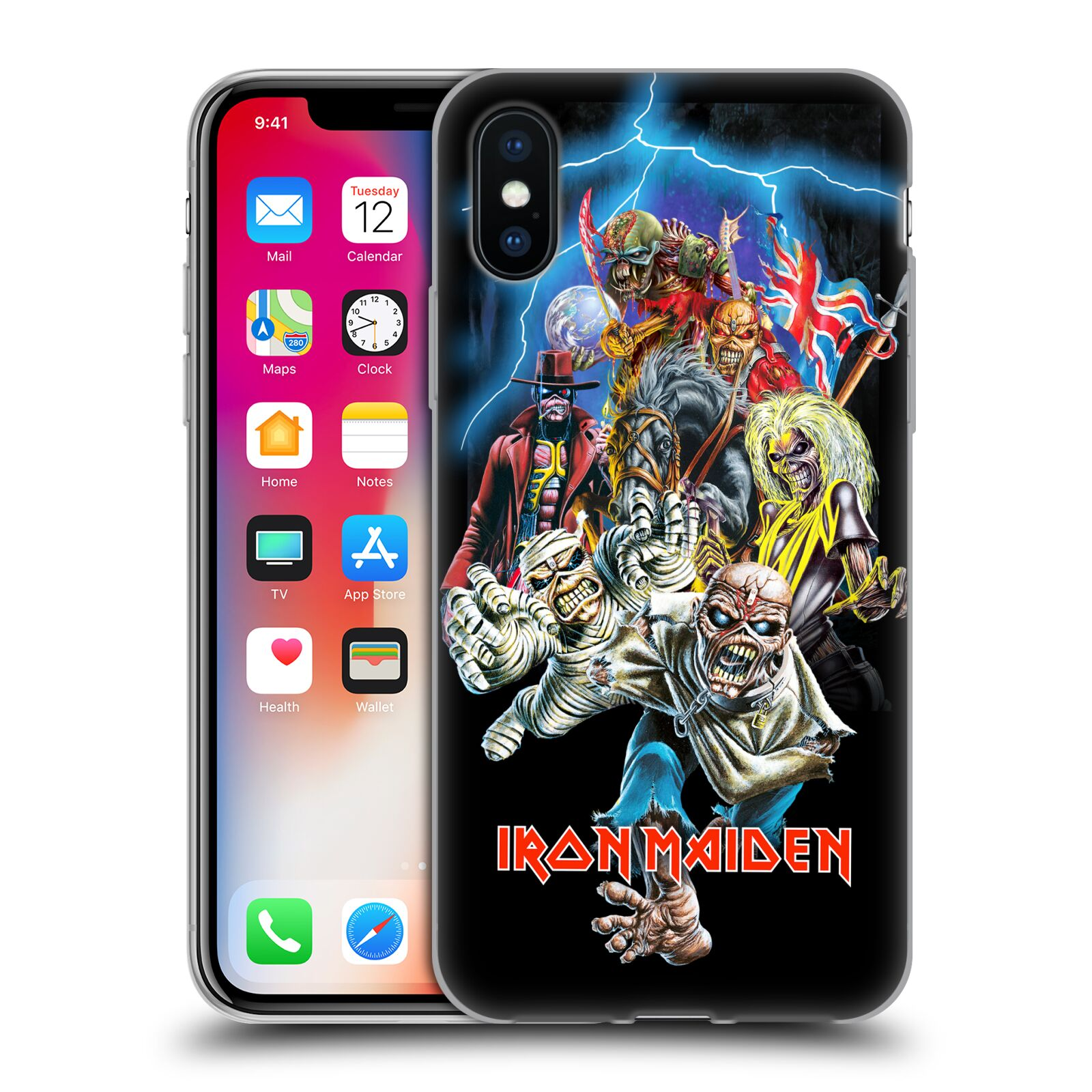 Silikonové pouzdro na mobil Apple iPhone XS - Head Case - Iron Maiden - Best Of Beast