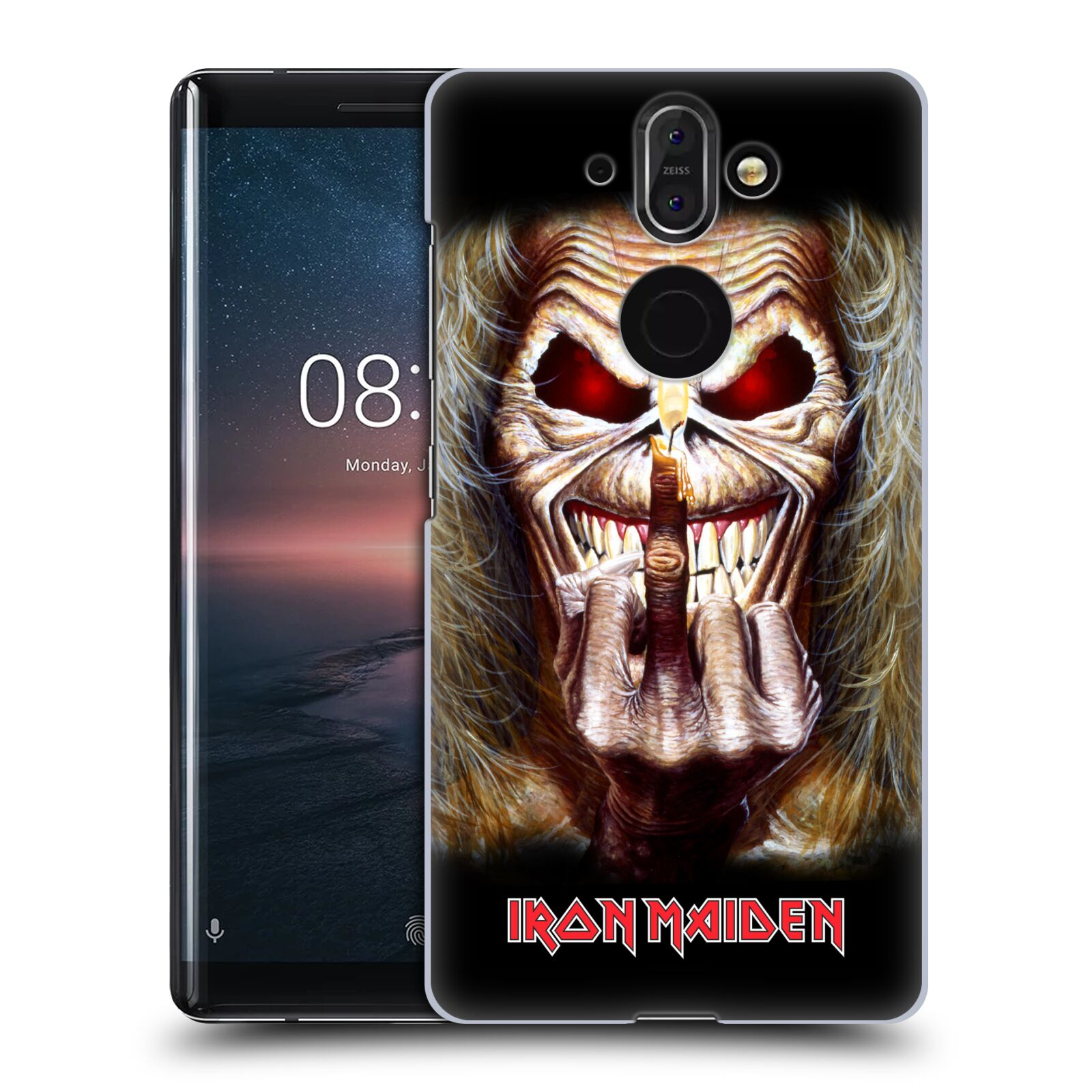 Plastové pouzdro na mobil Nokia 8 Sirocco - Head Case - Iron Maiden - Candle Finger