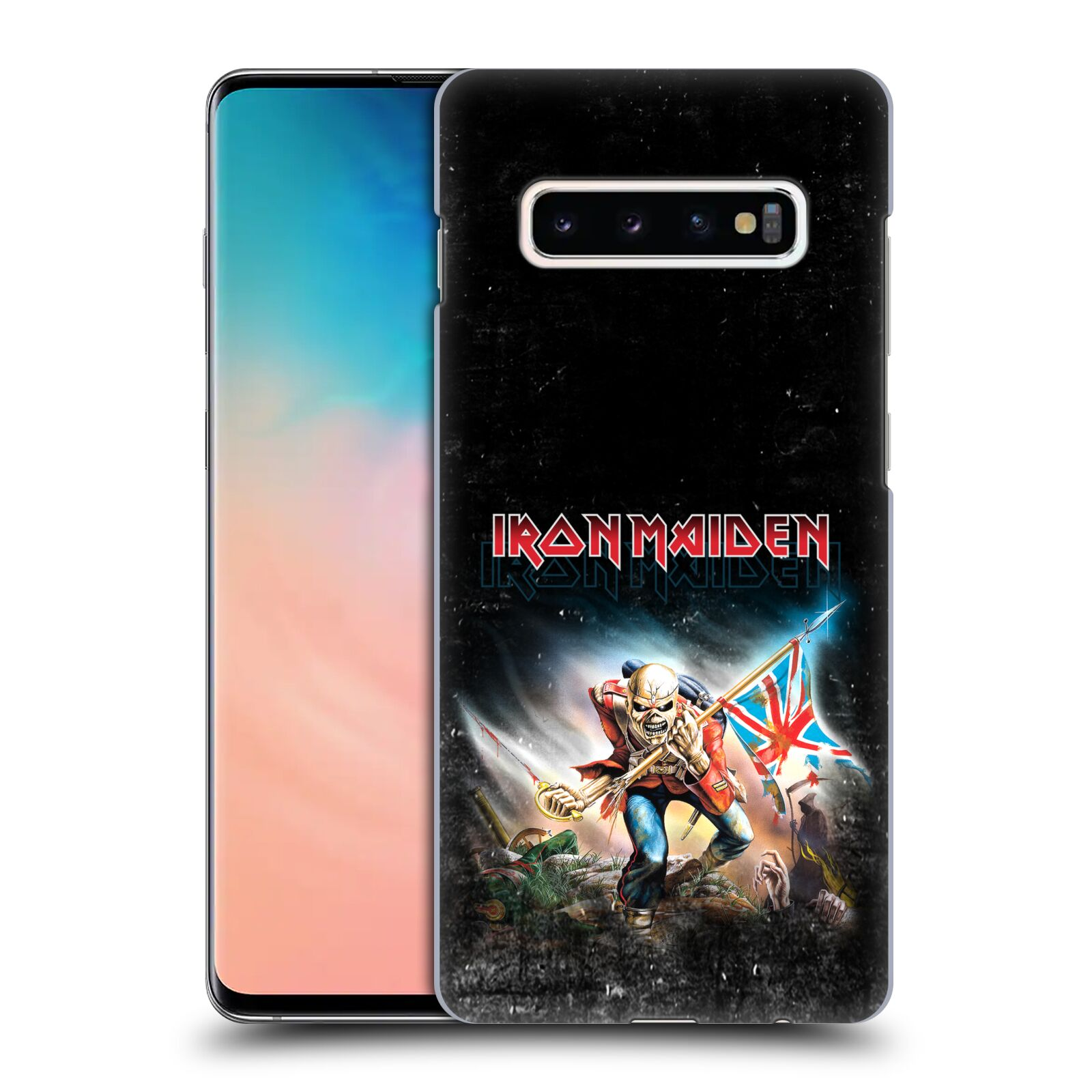Plastové pouzdro na mobil Samsung Galaxy S10 Plus - Head Case - Iron Maiden - Trooper 2016