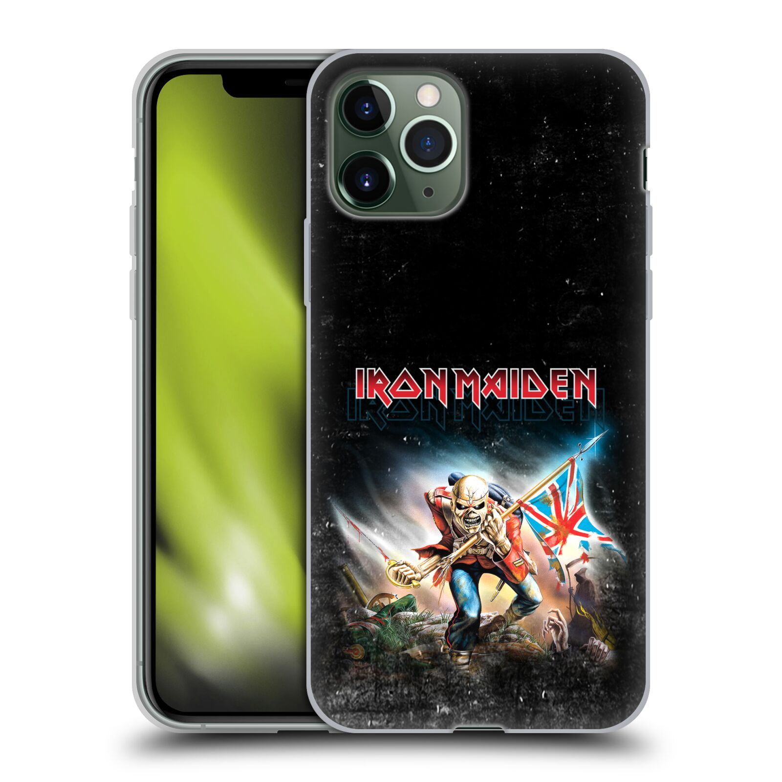 kryt na iphone xr apple | Silikonové pouzdro na mobil Apple iPhone 11 Pro - Head Case - Iron Maiden - Trooper 2016