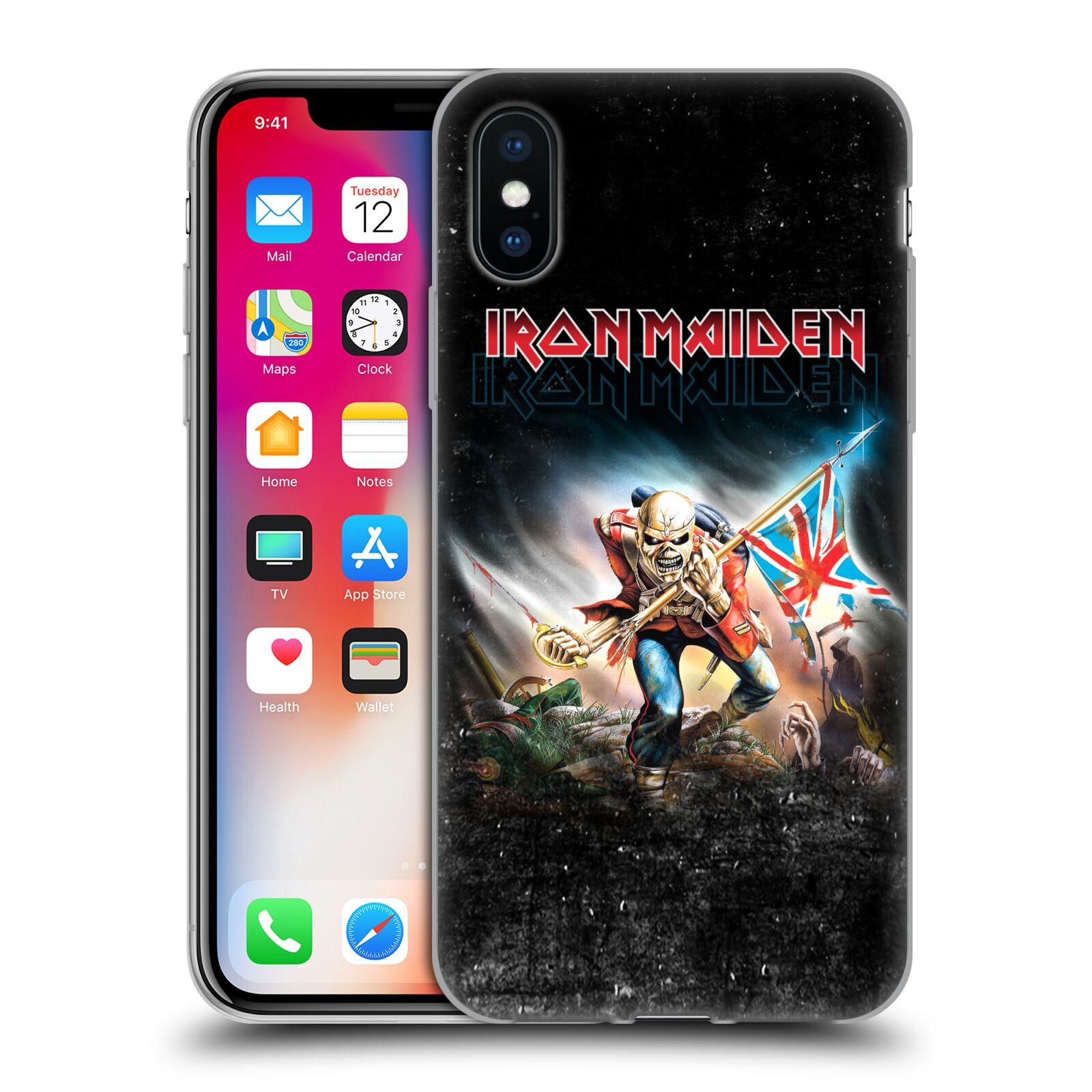 Silikonové pouzdro na mobil Apple iPhone XS - Head Case - Iron Maiden - Trooper 2016