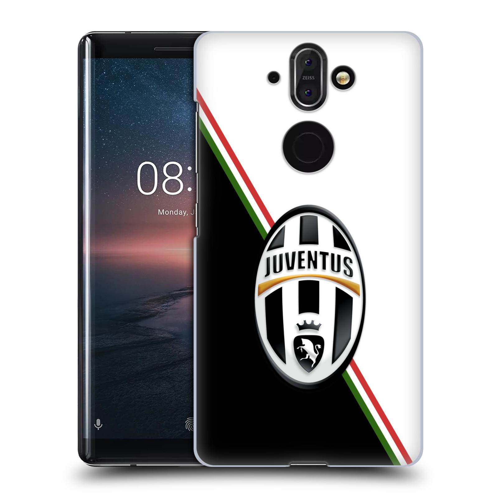 Plastové pouzdro na mobil Nokia 8 Sirocco - Head Case - Juventus FC - Black and White
