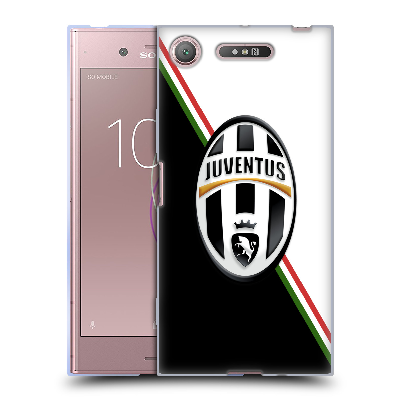 Silikonové pouzdro na mobil Sony Xperia XZ1 - Head Case - Juventus FC - Black and White (Silikonový kryt či obal na mobilní telefon Sony Xperia XZ1 (G8342 Dual Sim / G8341 Single Sim) s motivem Juventus FC - Black and White)