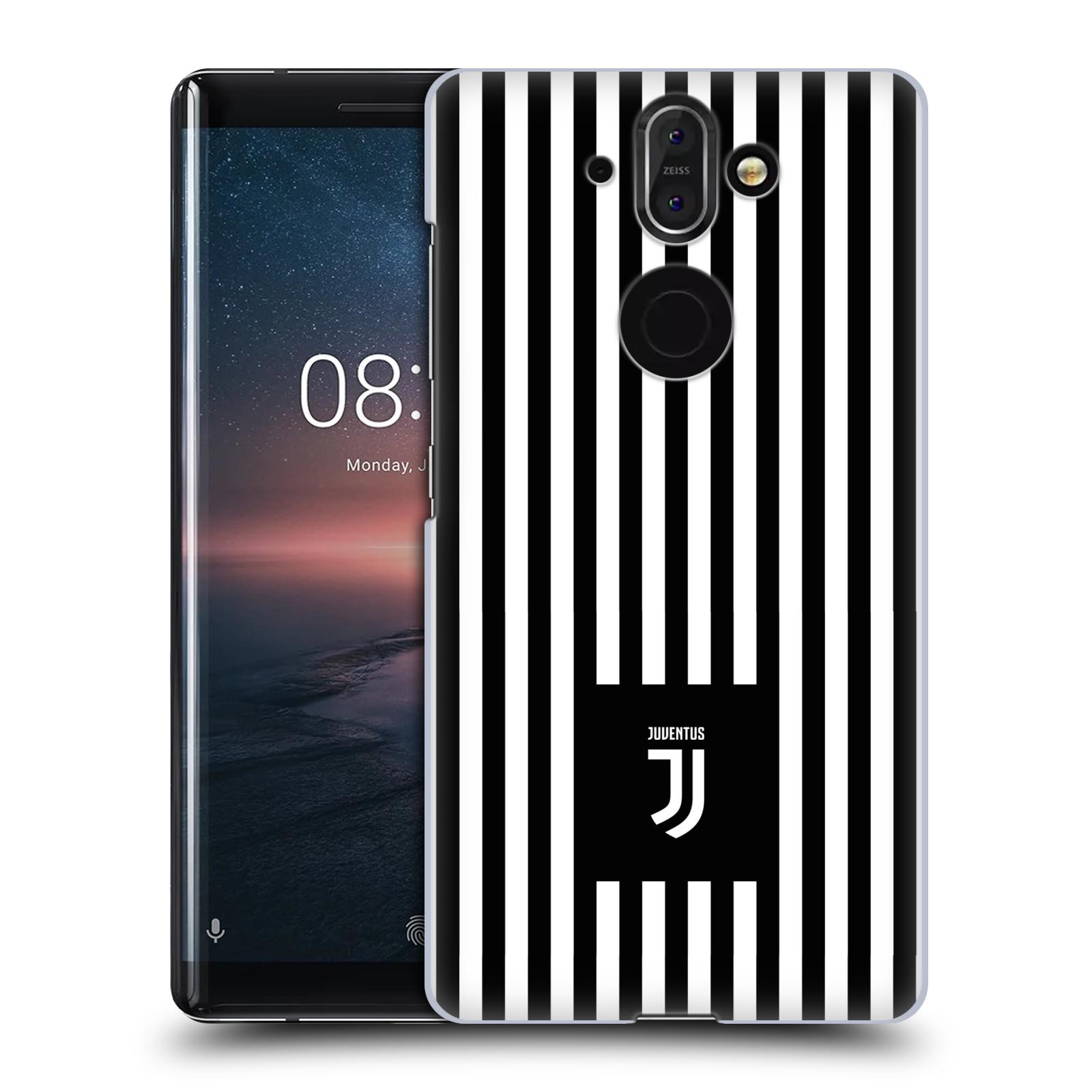 Plastové pouzdro na mobil Nokia 8 Sirocco - Head Case - Juventus FC - Nové logo - Pruhy
