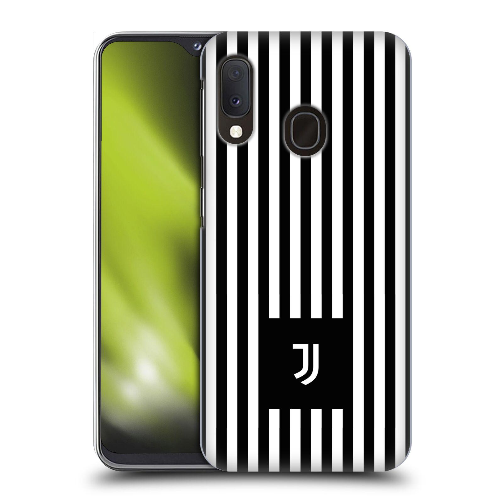Plastové pouzdro na mobil Samsung Galaxy A20e - Head Case - Juventus FC - Nové logo - Pruhy