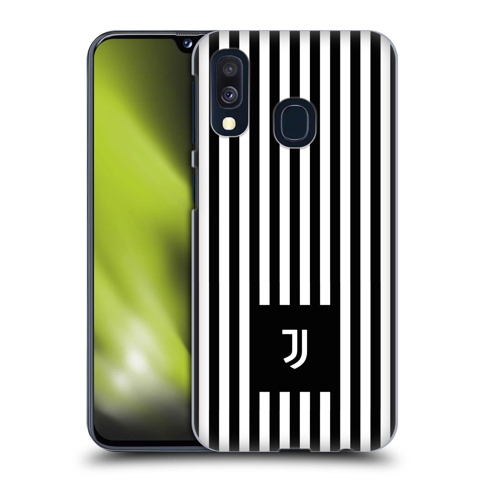 Plastové pouzdro na mobil Samsung Galaxy A40 - Head Case - Juventus FC - Nové logo - Pruhy