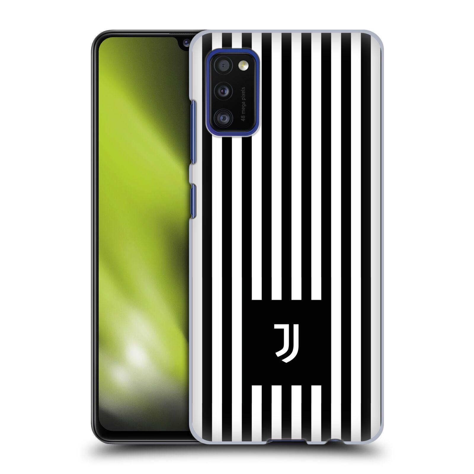 Plastové pouzdro na mobil Samsung Galaxy A41 - Head Case - Juventus FC - Nové logo - Pruhy