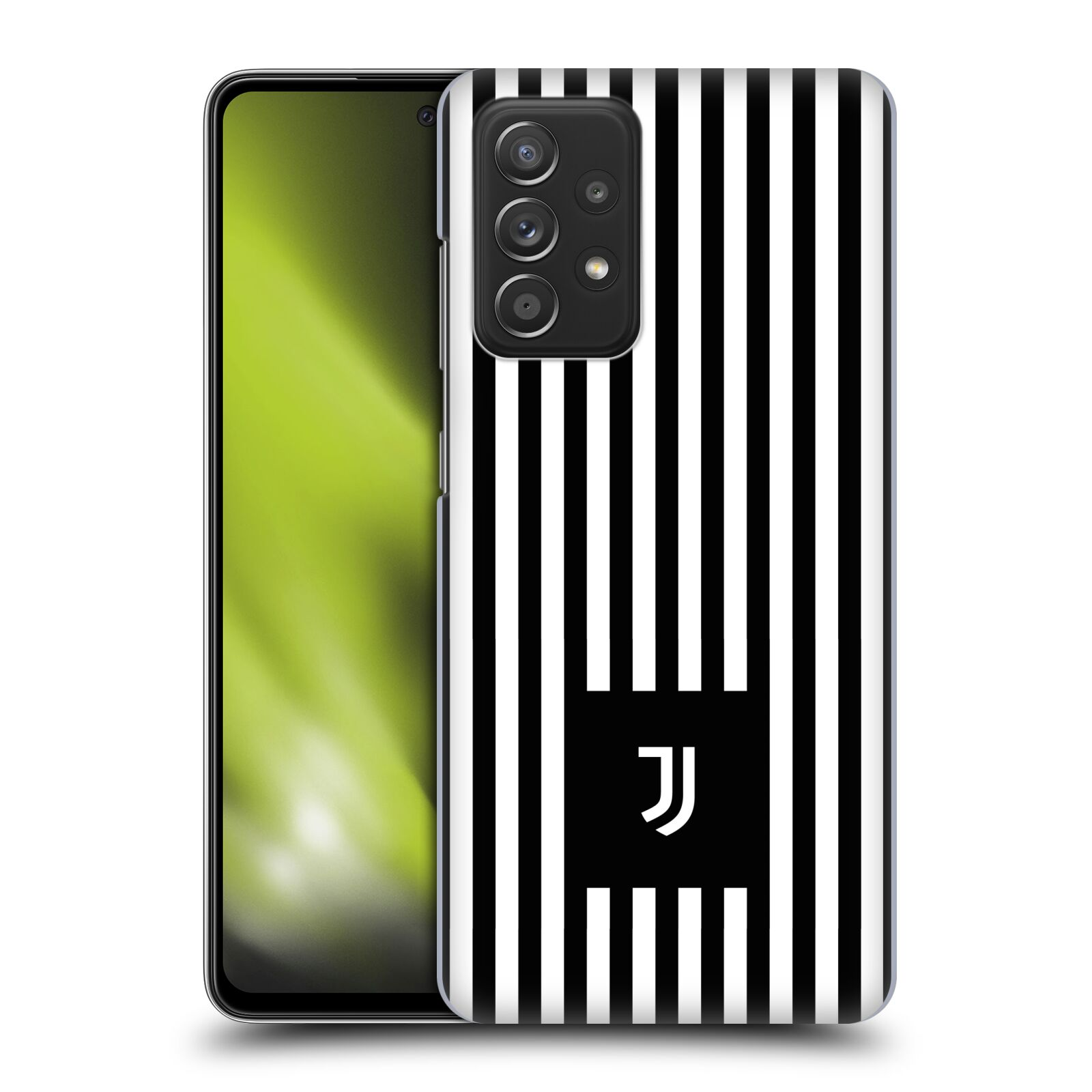 Plastové pouzdro na mobil Samsung Galaxy A52 / A52 5G / A52s 5G - Head Case - Juventus FC - Nové logo - Pruhy