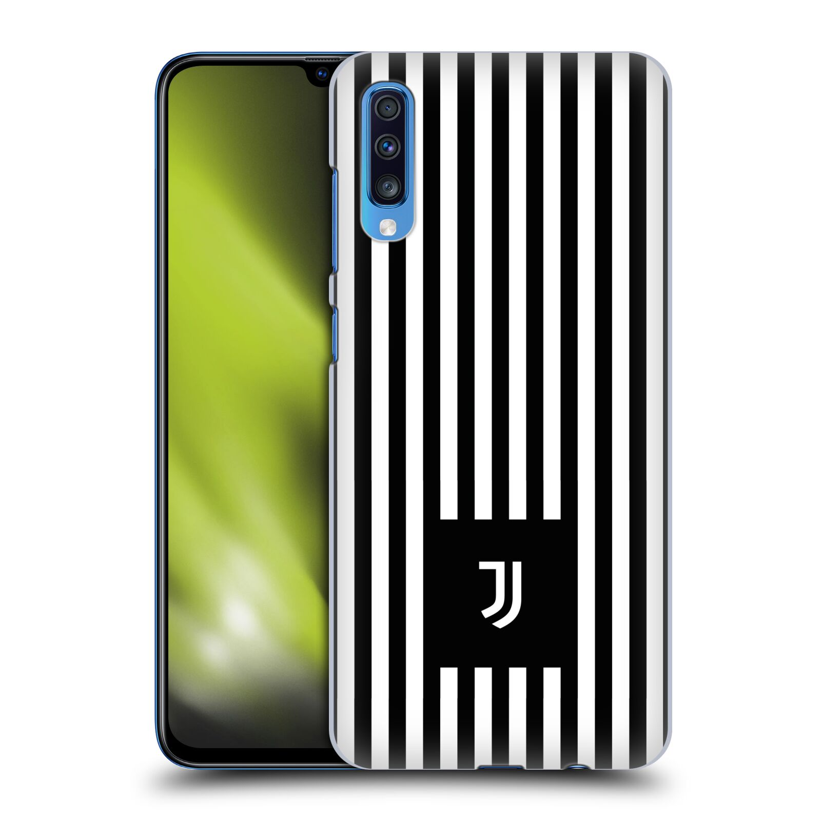 Plastové pouzdro na mobil Samsung Galaxy A70 - Head Case - Juventus FC - Nové logo - Pruhy