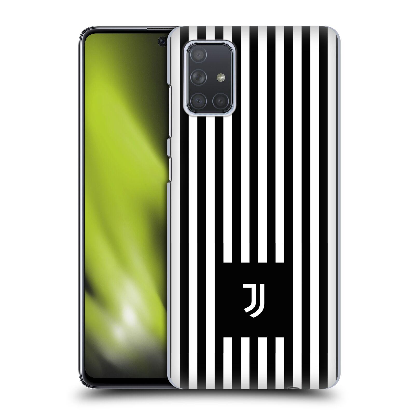 Plastové pouzdro na mobil Samsung Galaxy A71 - Head Case - Juventus FC - Nové logo - Pruhy