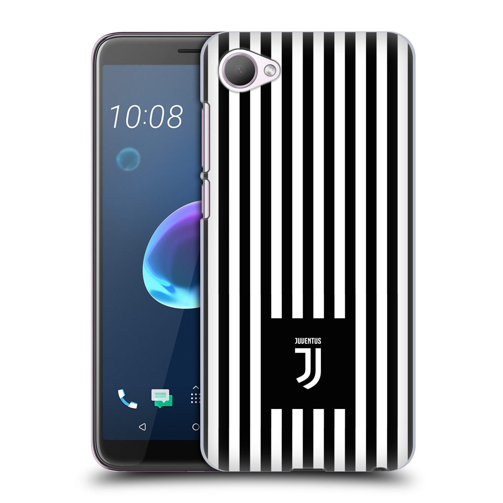 Plastové pouzdro na mobil HTC Desire 12 - Head Case - Juventus FC - Nové logo - Pruhy