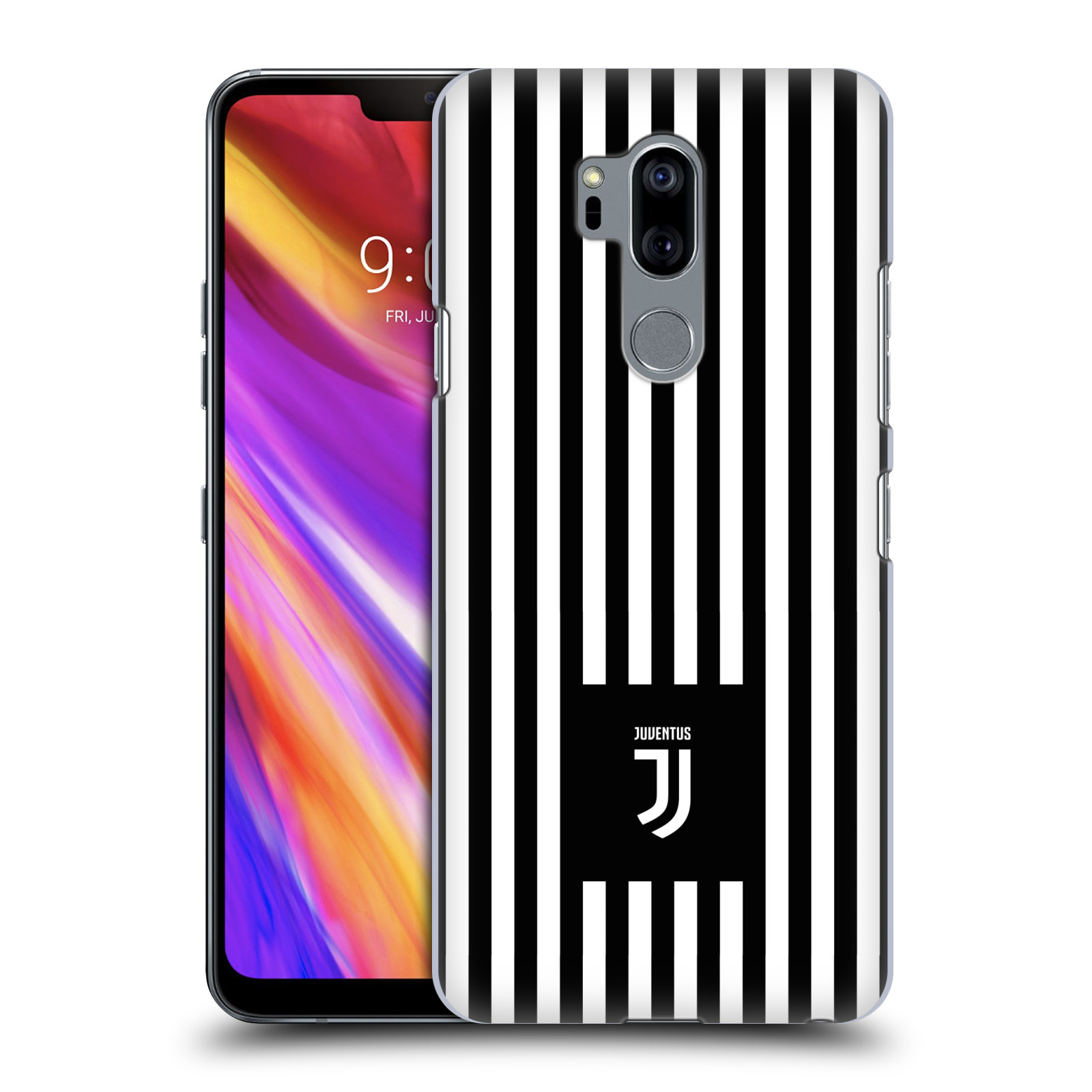 Plastové pouzdro na mobil LG G7 ThinQ - Head Case - Juventus FC - Nové logo - Pruhy
