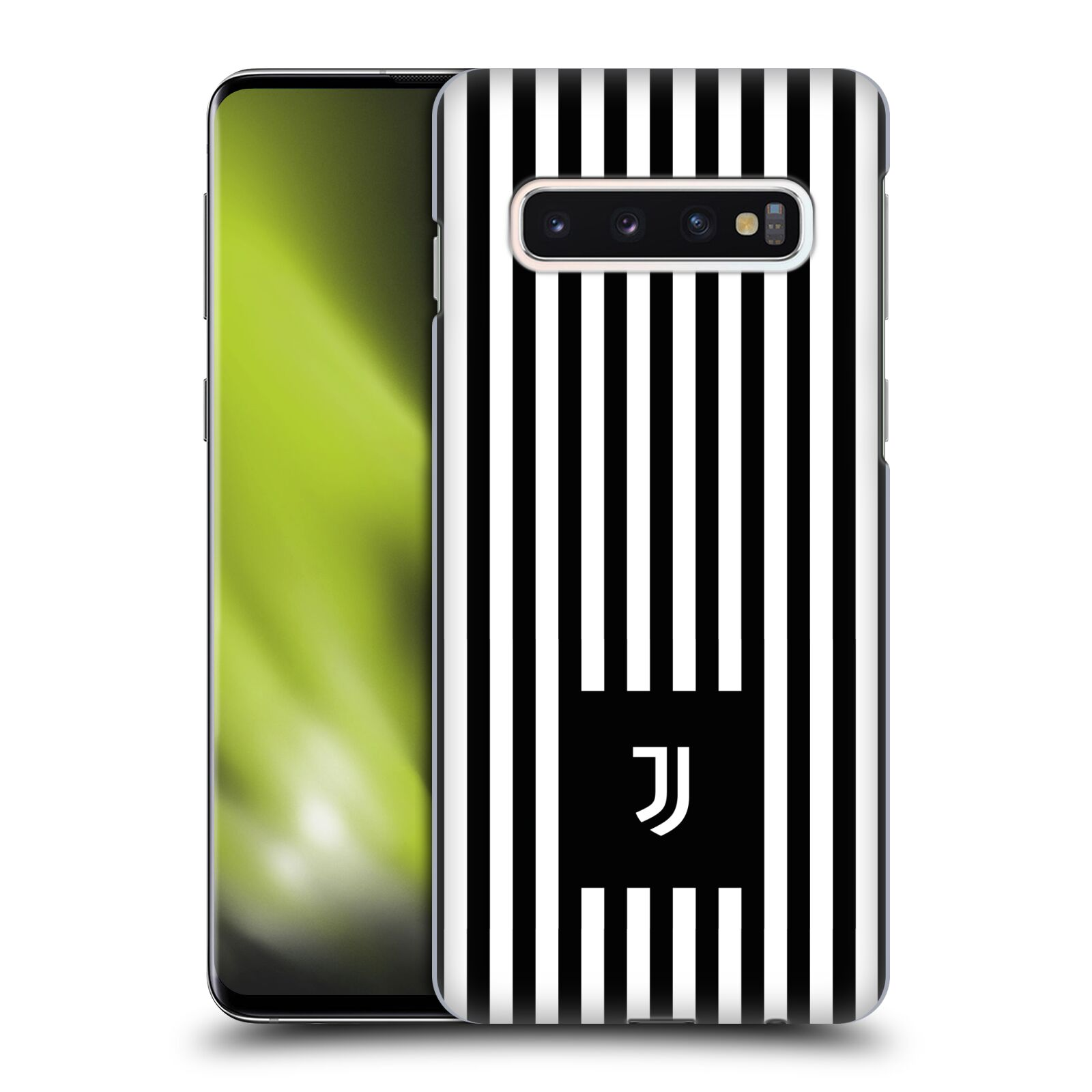 Plastové pouzdro na mobil Samsung Galaxy S10 - Head Case - Juventus FC - Nové logo - Pruhy