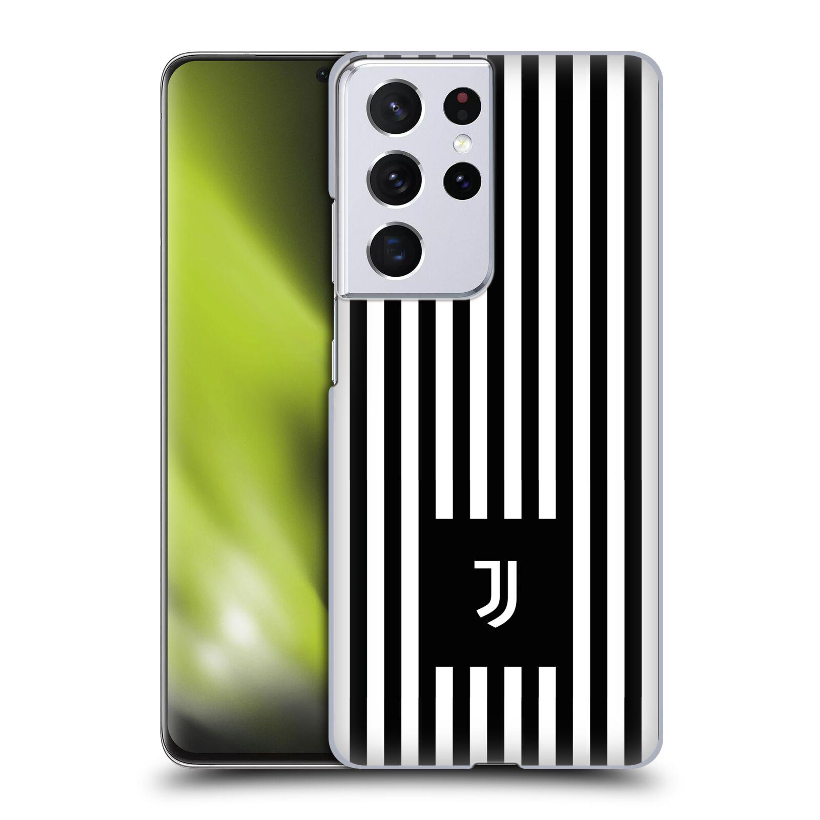 Plastové pouzdro na mobil Samsung Galaxy S21 Ultra 5G - Head Case - Juventus FC - Nové logo - Pruhy