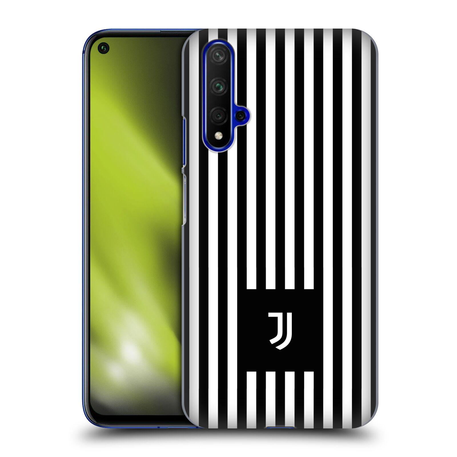 Plastové pouzdro na mobil Honor 20 - Head Case - Juventus FC - Nové logo - Pruhy