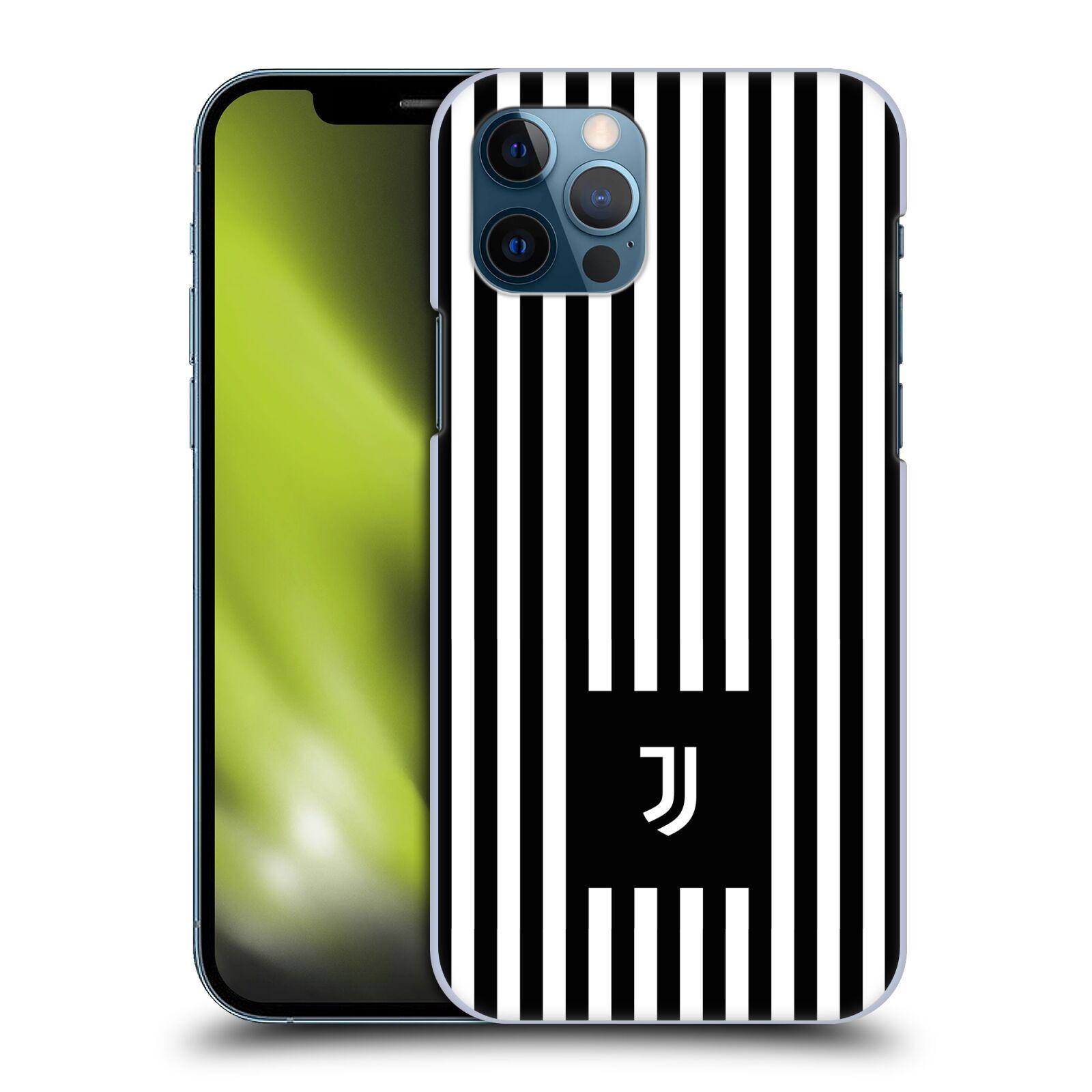Plastové pouzdro na mobil Apple iPhone 12 / 12 Pro - Head Case - Juventus FC - Nové logo - Pruhy