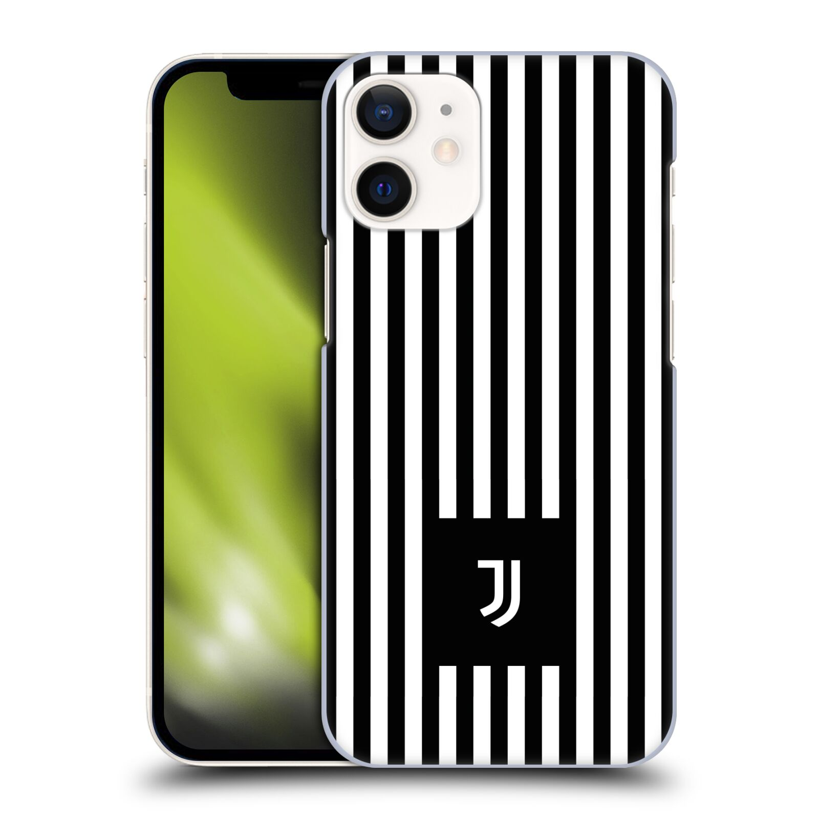 Plastové pouzdro na mobil Apple iPhone 12 Mini - Head Case - Juventus FC - Nové logo - Pruhy