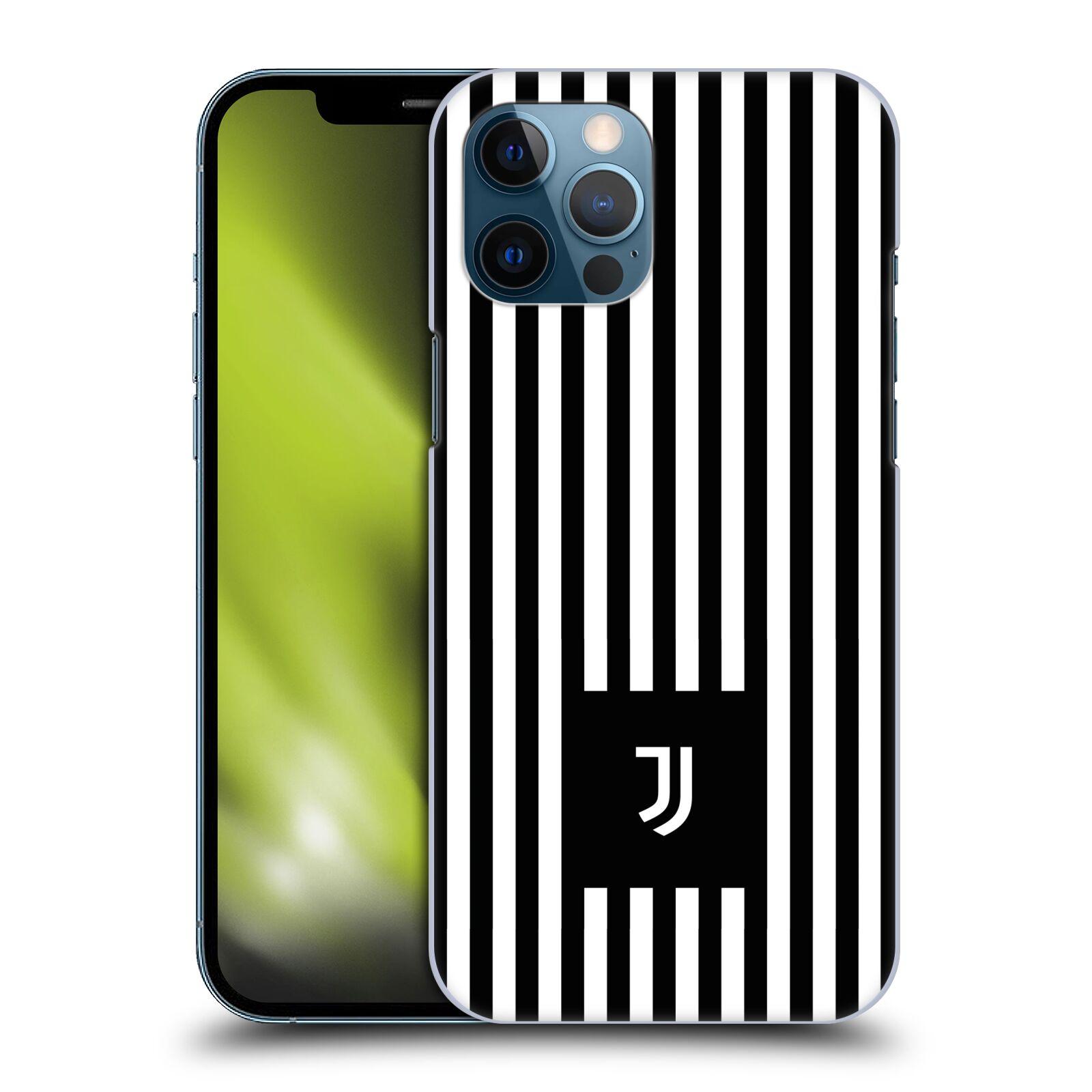 Plastové pouzdro na mobil Apple iPhone 12 Pro Max - Head Case - Juventus FC - Nové logo - Pruhy