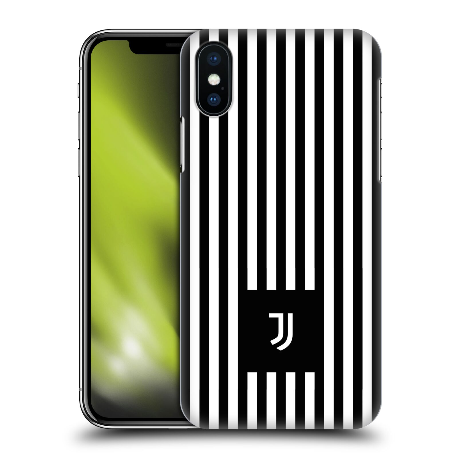 Plastové pouzdro na mobil Apple iPhone XS - Head Case - Juventus FC - Nové logo - Pruhy