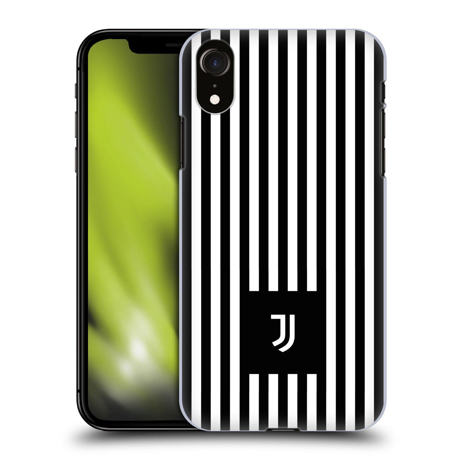 Plastové pouzdro na mobil Apple iPhone XR - Head Case - Juventus FC - Nové logo - Pruhy