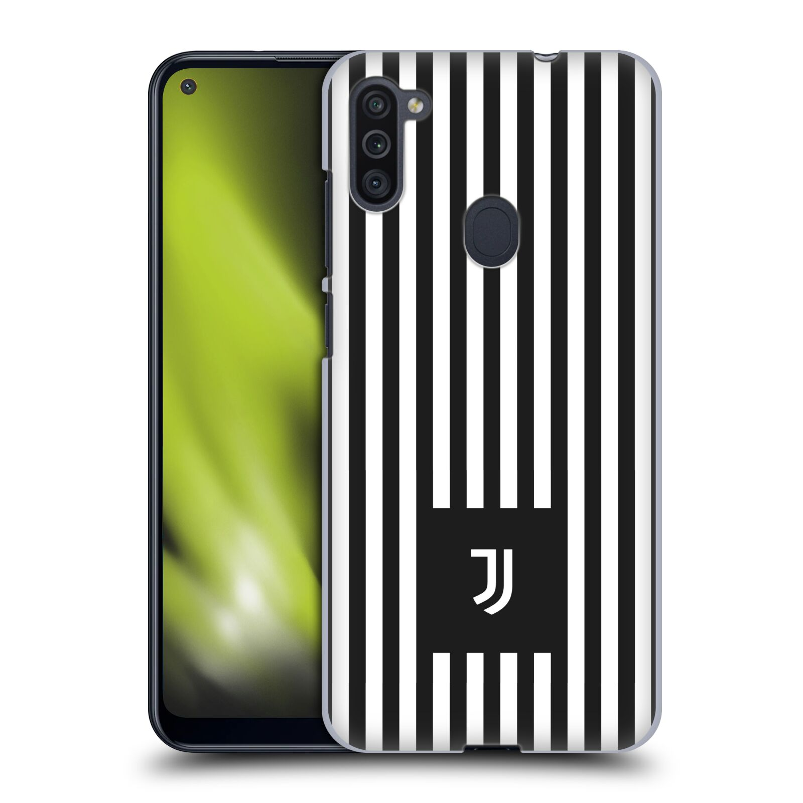 Plastové pouzdro na mobil Samsung Galaxy M11 - Head Case - Juventus FC - Nové logo - Pruhy