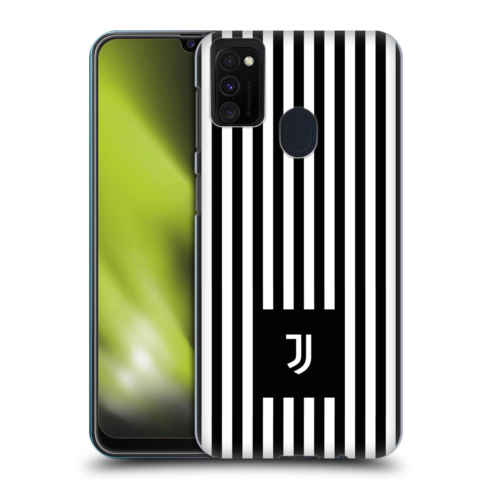 Plastové pouzdro na mobil Samsung Galaxy M21 - Head Case - Juventus FC - Nové logo - Pruhy