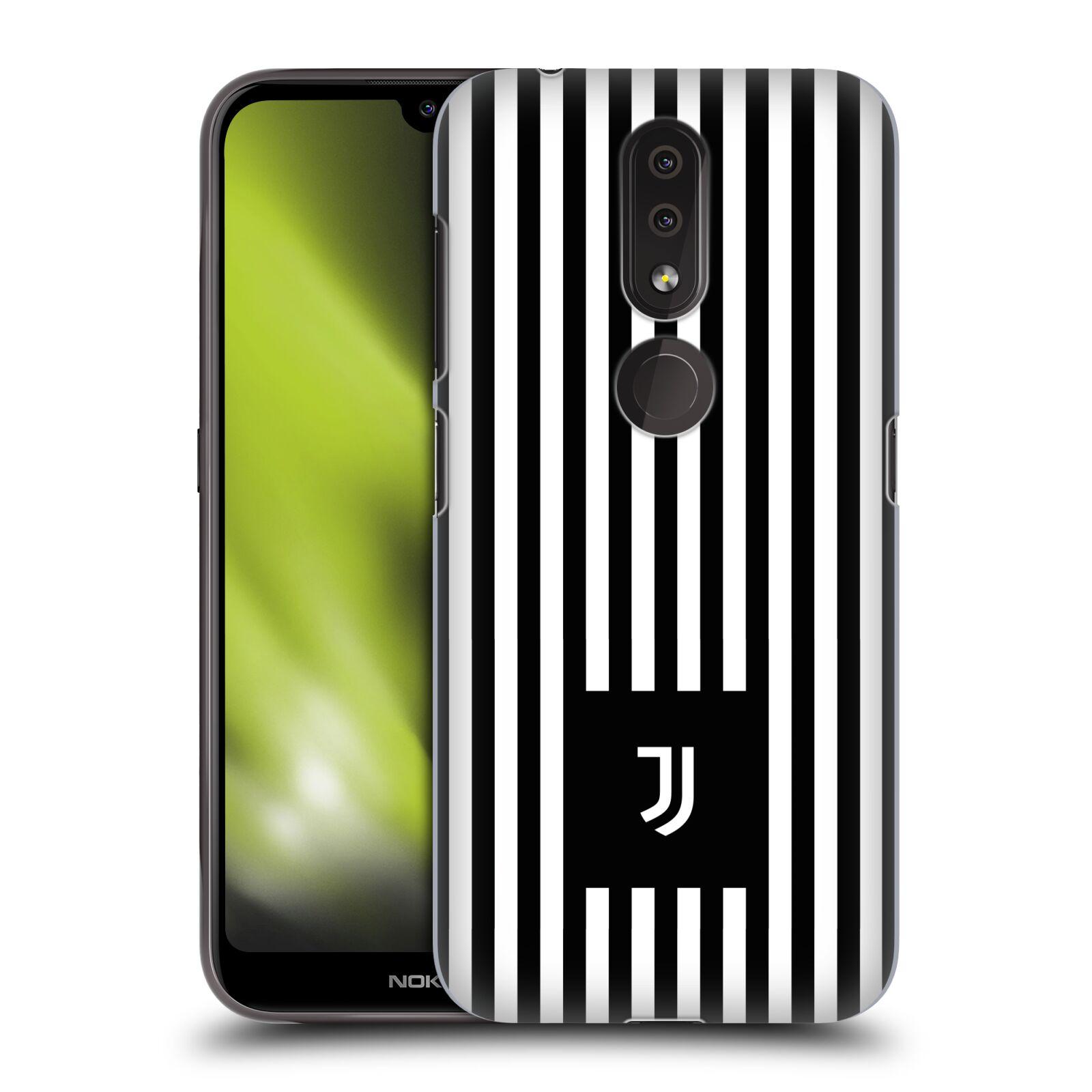 Plastové pouzdro na mobil Nokia 4.2 - Head Case - Juventus FC - Nové logo - Pruhy