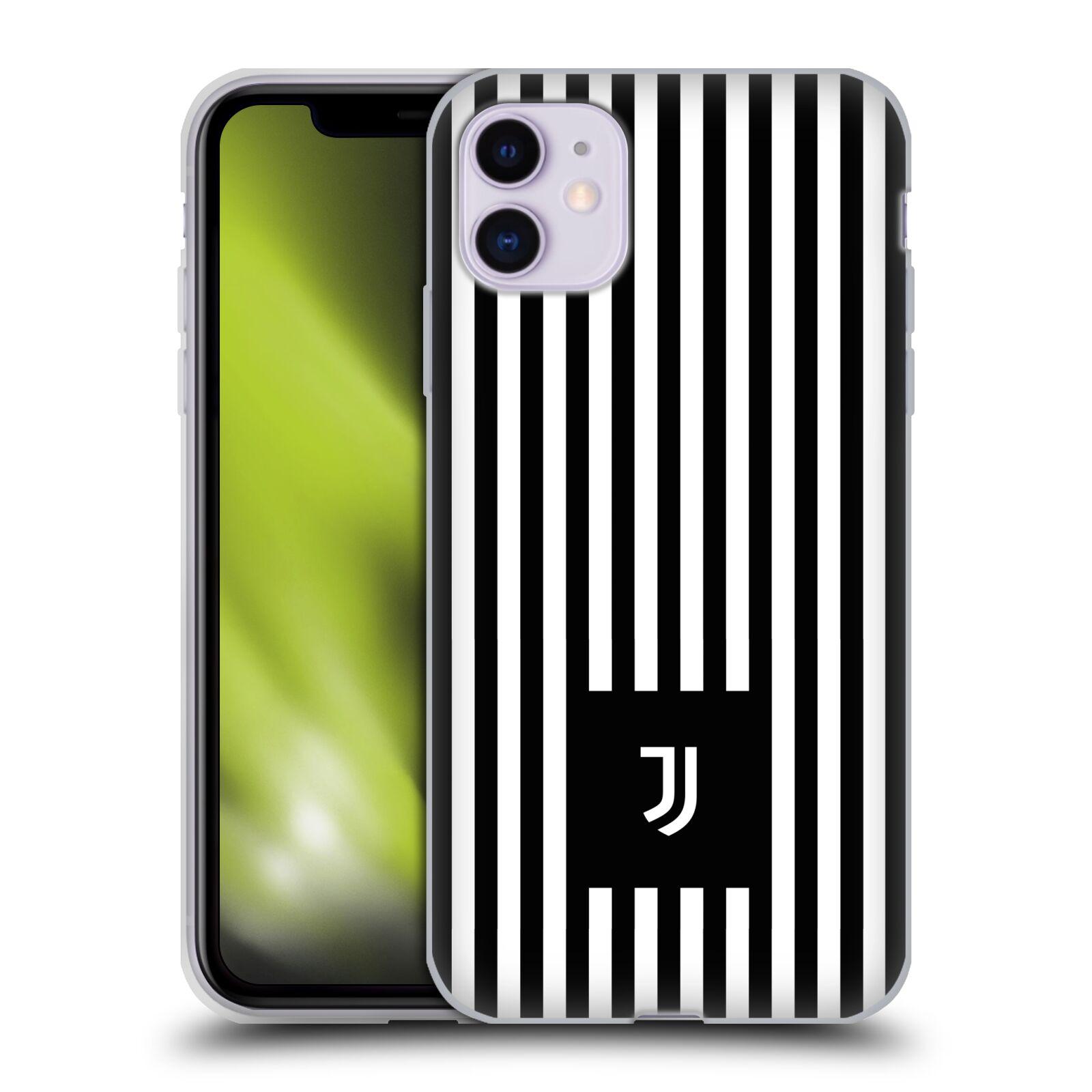 Silikonové pouzdro na mobil Apple iPhone 11 - Head Case - Juventus FC - Nové logo - Pruhy