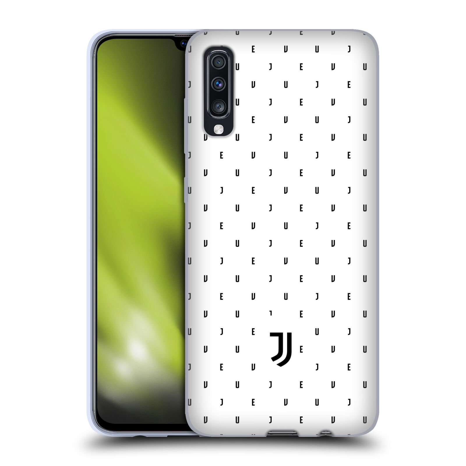 Silikonové pouzdro na mobil Samsung Galaxy A70 - Head Case - Juventus FC - Nové logo - Decentní