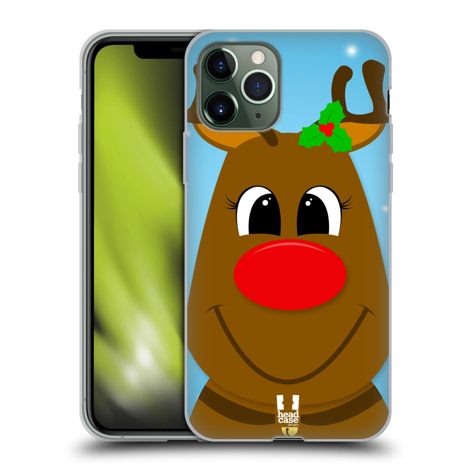 gucci iphone x leather case | Silikonové pouzdro na mobil Apple iPhone 11 Pro - Head Case - VÁNOCE RUDOLF SOB