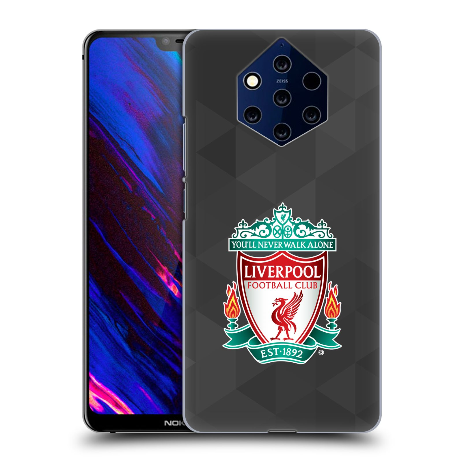 Plastové pouzdro na mobil Nokia 9 PureView - Head Case - ZNAK LIVERPOOL FC OFFICIAL GEOMETRIC BLACK