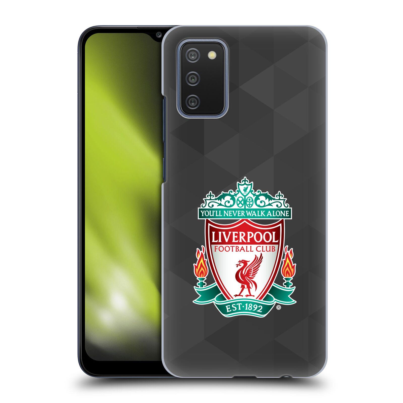 Plastové pouzdro na mobil Samsung Galaxy A02s - Head Case - ZNAK LIVERPOOL FC OFFICIAL GEOMETRIC BLACK