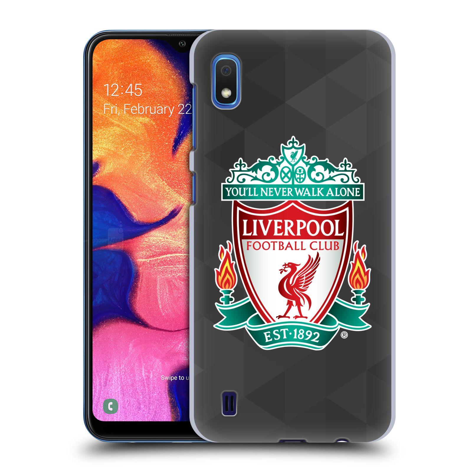 Plastové pouzdro na mobil Samsung Galaxy A10 - Head Case - ZNAK LIVERPOOL FC OFFICIAL GEOMETRIC BLACK