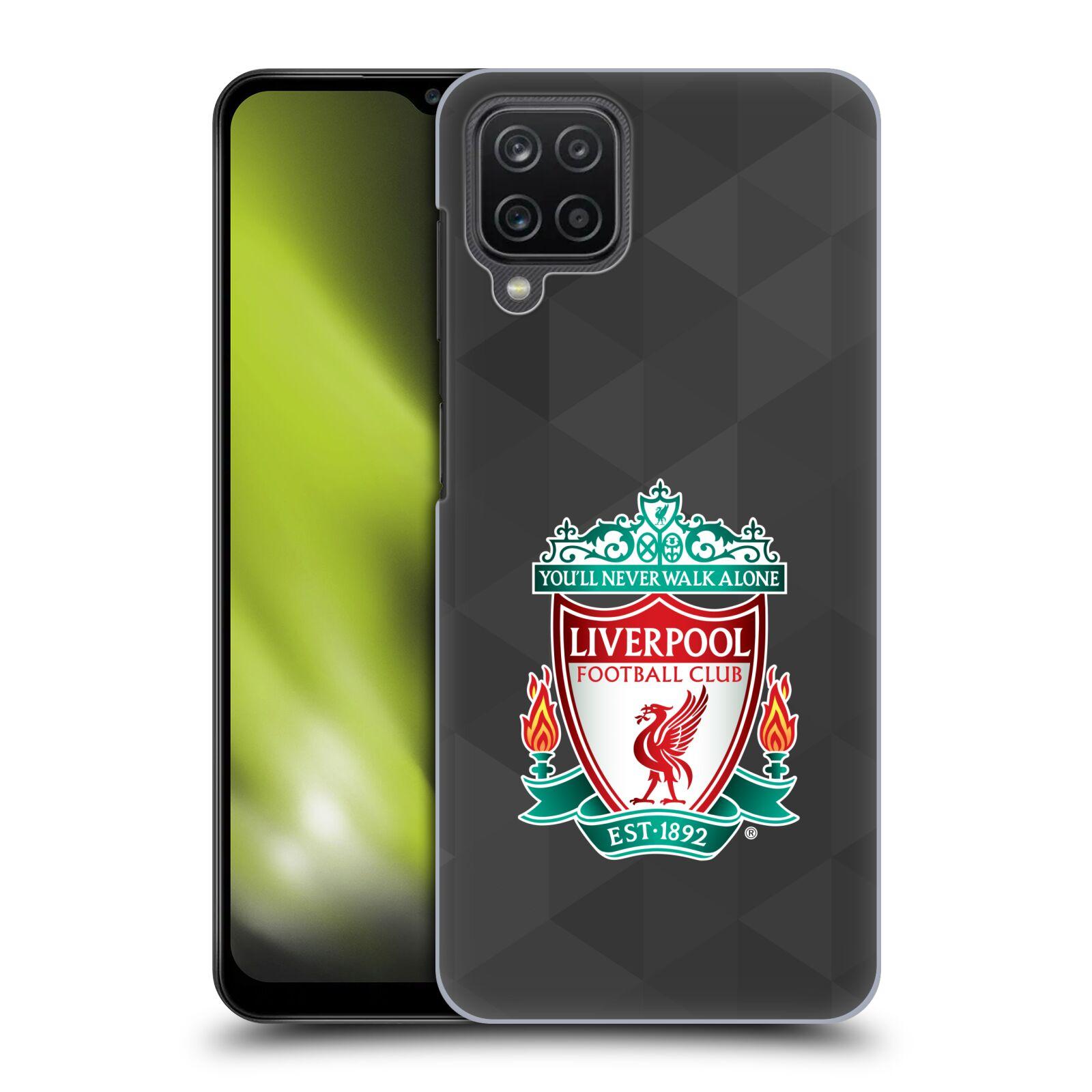 Plastové pouzdro na mobil Samsung Galaxy A12 - Head Case - ZNAK LIVERPOOL FC OFFICIAL GEOMETRIC BLACK
