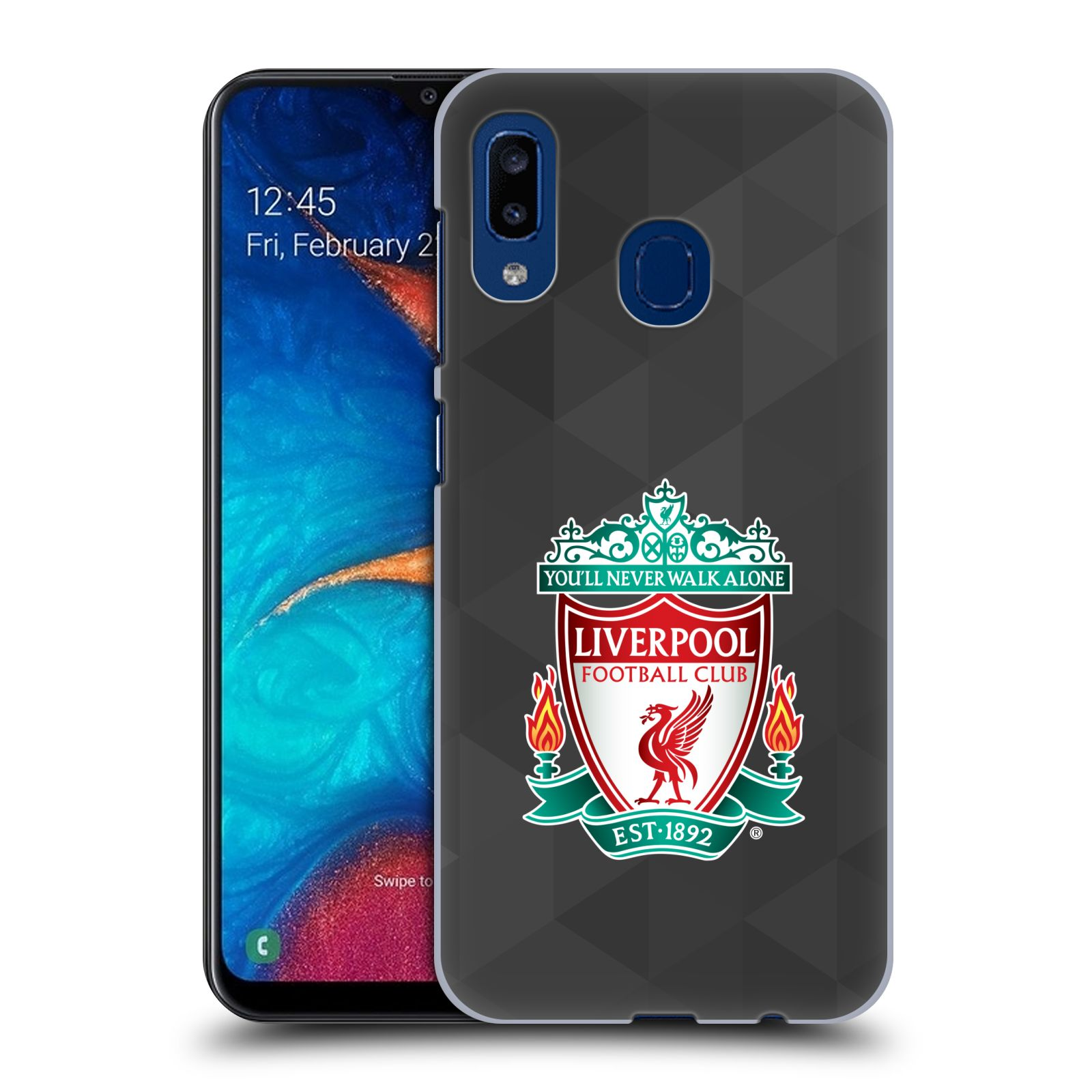 Plastové pouzdro na mobil Samsung Galaxy A20 - Head Case - ZNAK LIVERPOOL FC OFFICIAL GEOMETRIC BLACK