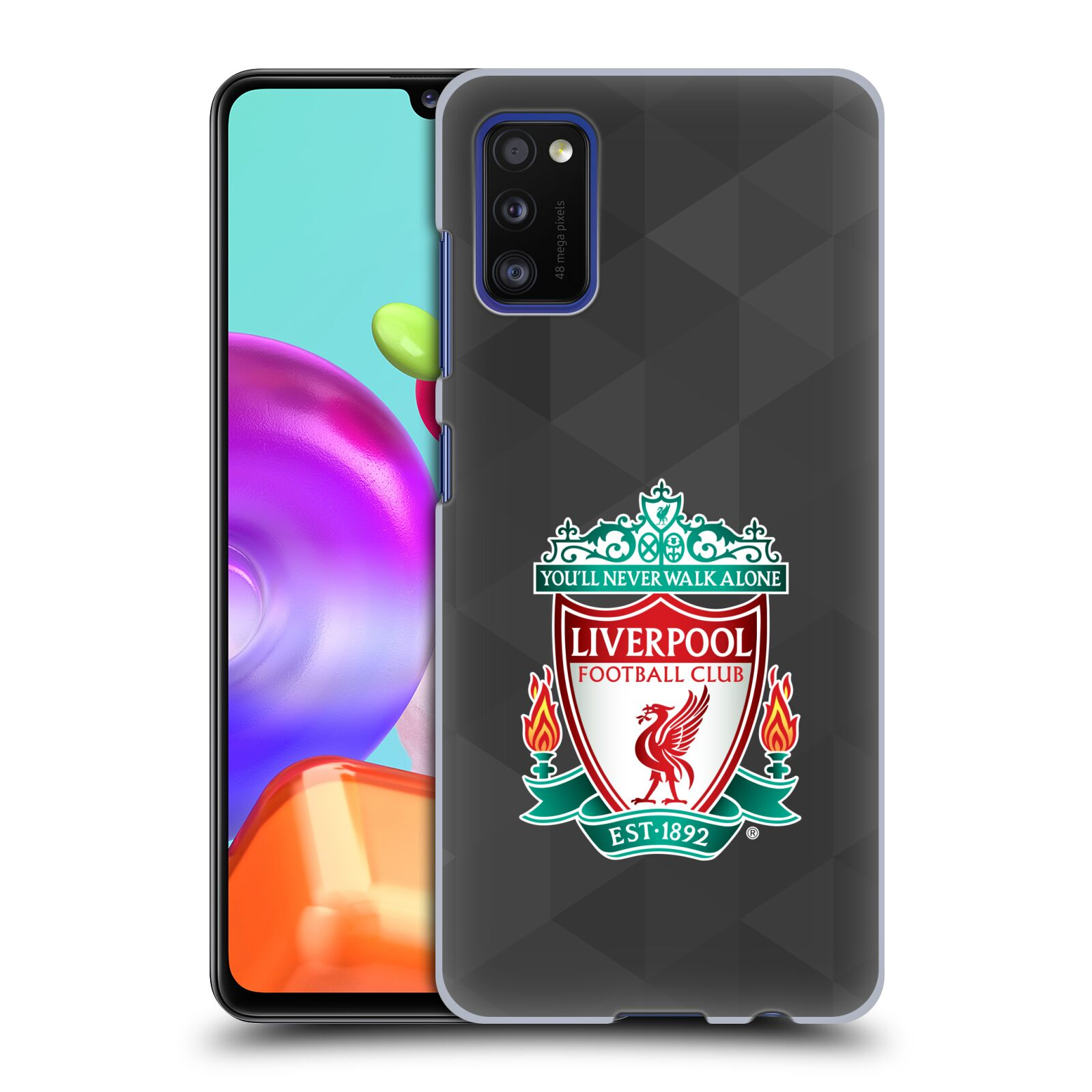 Plastové pouzdro na mobil Samsung Galaxy A41 - Head Case - ZNAK LIVERPOOL FC OFFICIAL GEOMETRIC BLACK