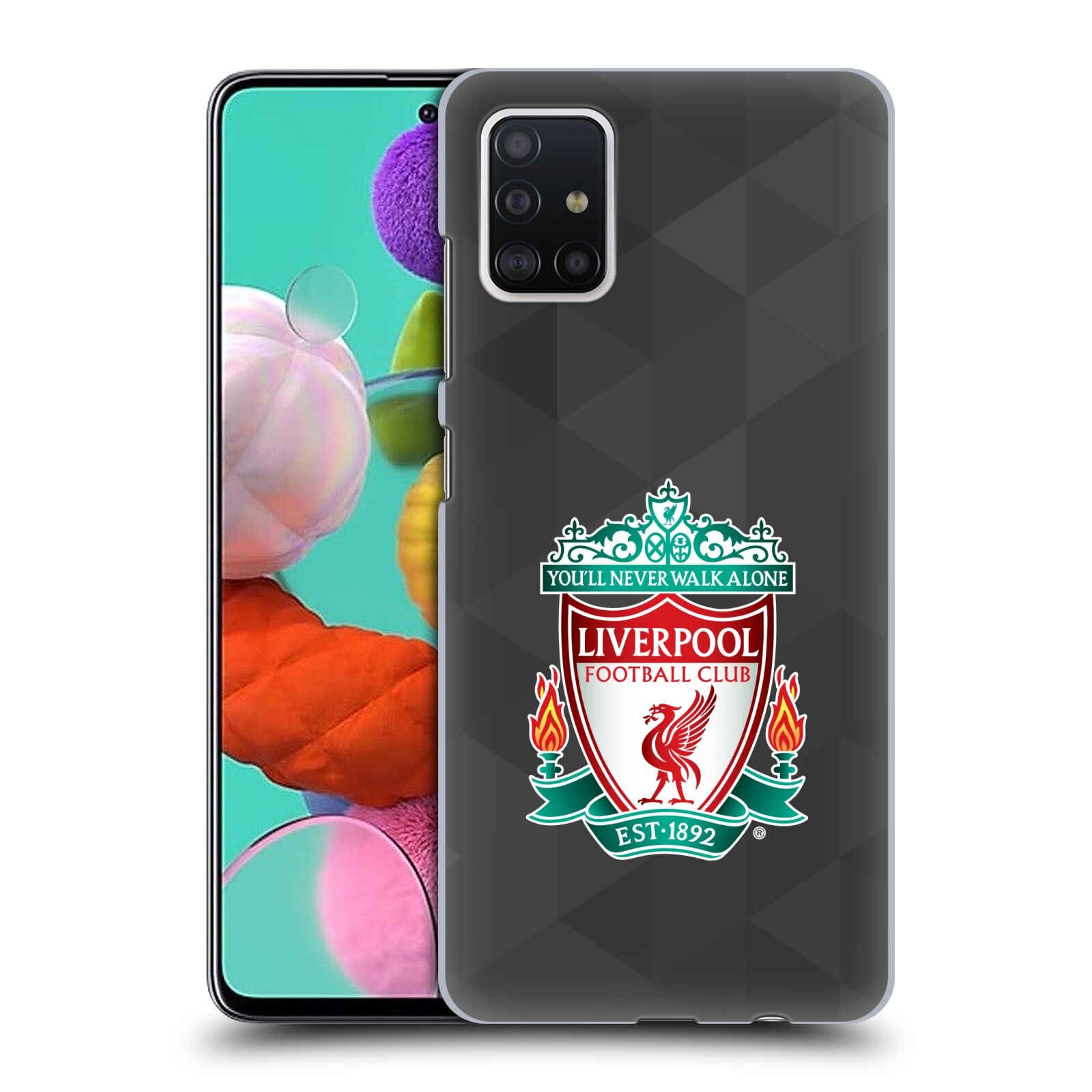 Plastové pouzdro na mobil Samsung Galaxy A51 - Head Case - ZNAK LIVERPOOL FC OFFICIAL GEOMETRIC BLACK