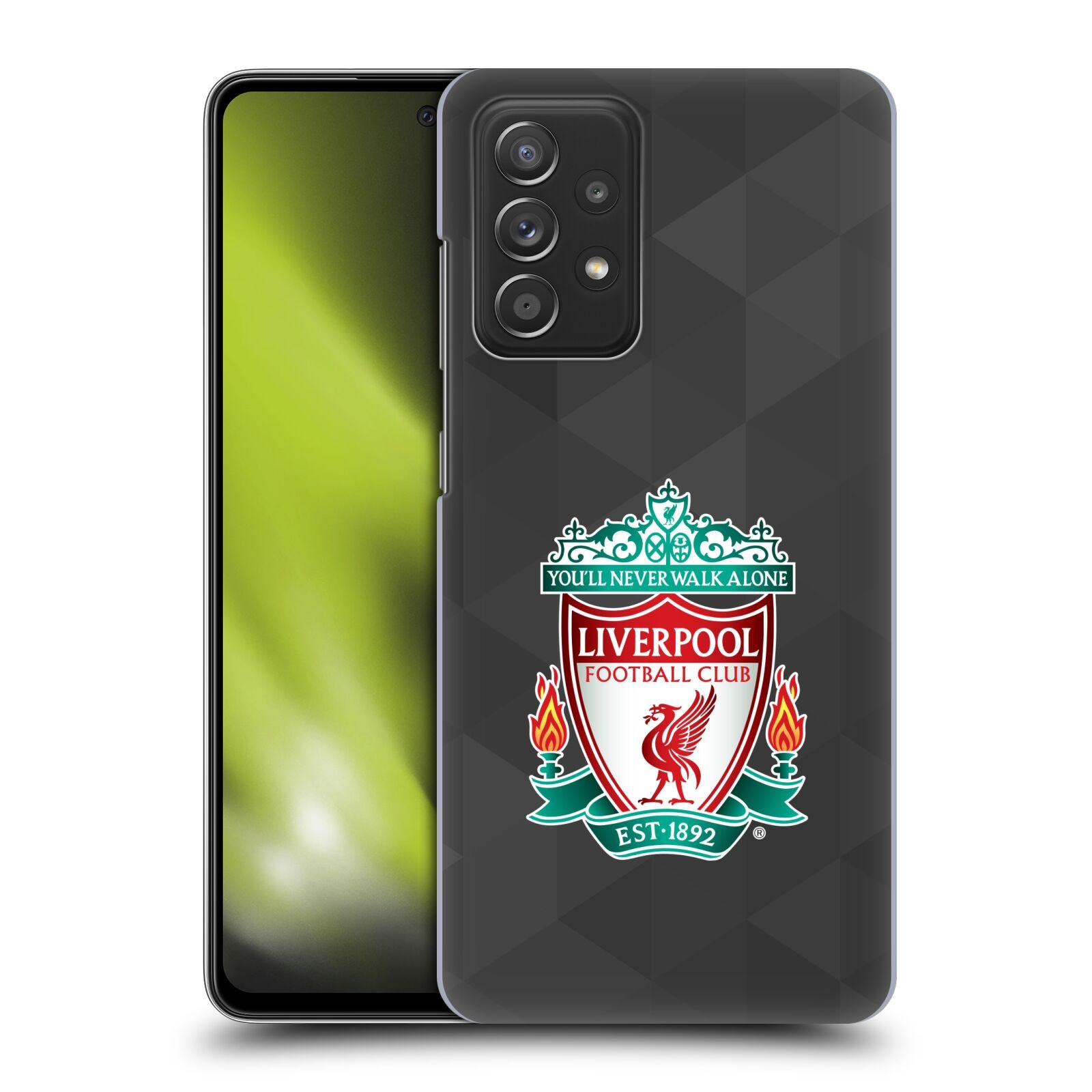 Plastové pouzdro na mobil Samsung Galaxy A52 / A52 5G / A52s 5G - Head Case - ZNAK LIVERPOOL FC OFFICIAL GEOMETRIC BLACK
