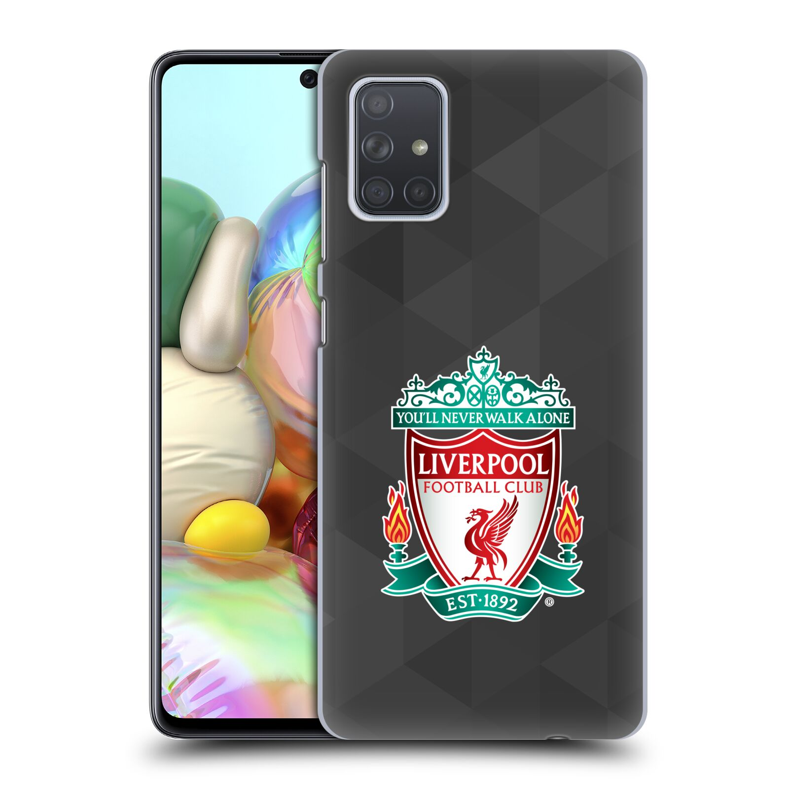 Plastové pouzdro na mobil Samsung Galaxy A71 - Head Case - ZNAK LIVERPOOL FC OFFICIAL GEOMETRIC BLACK